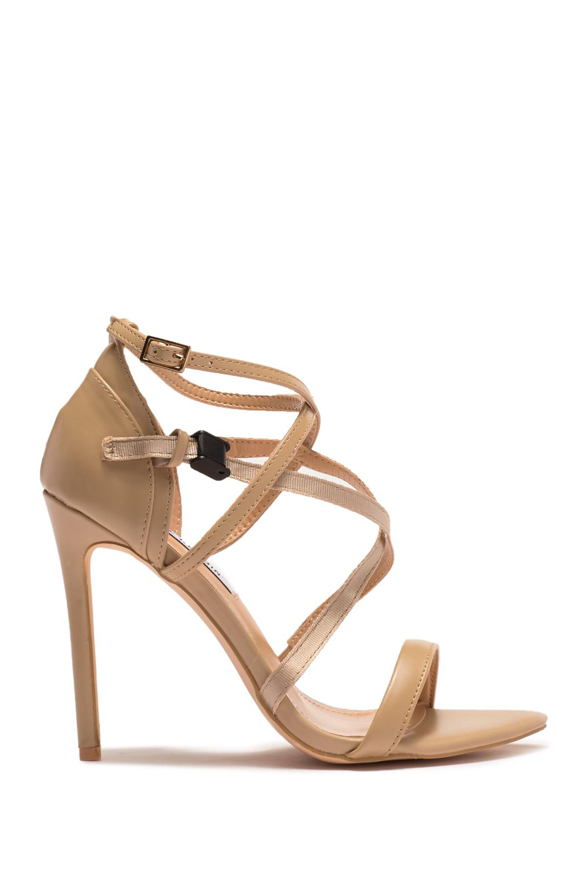 9328ca0fc Cape Robbin Rumor Caged Sandal in Natural - Lyst