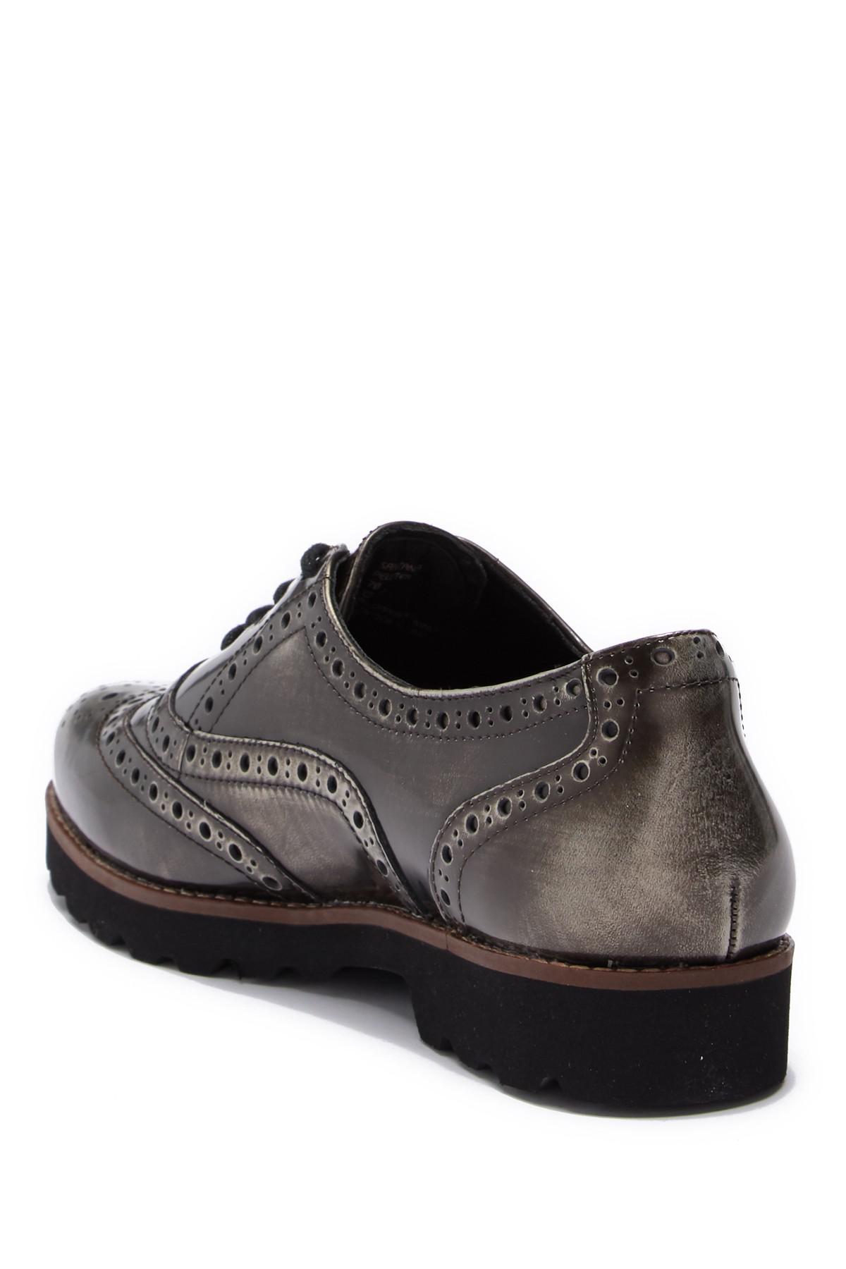 32c914f79b9 Earthies - Black Santana Wingtip Leather Oxford - Lyst. View fullscreen