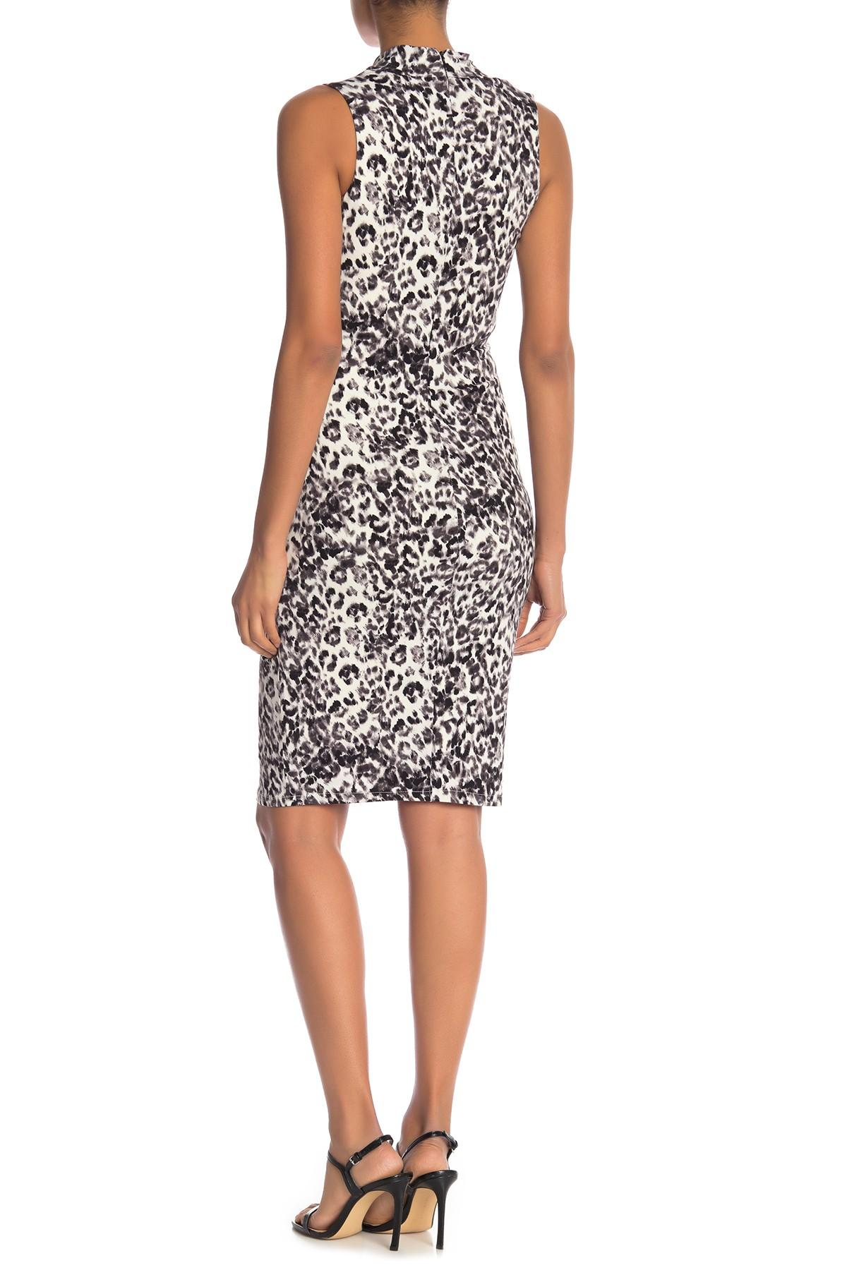 9dcb71af7f32 RACHEL Rachel Roy - Black Axel Leopard Print Sheath Dress - Lyst. View  fullscreen