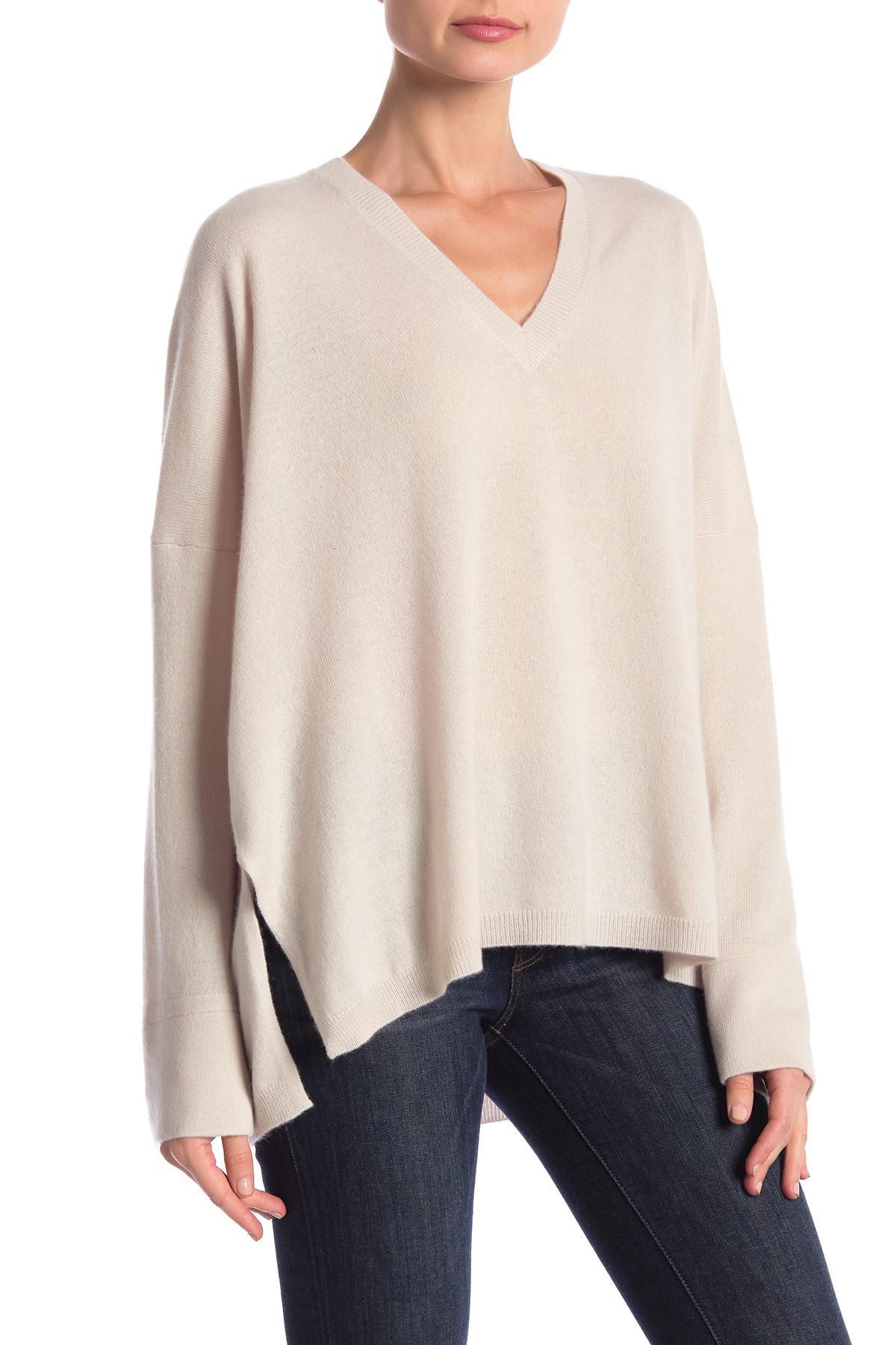 e087382ebd0 360cashmere Olivia V-neck Cashmere Sweater in Natural - Lyst