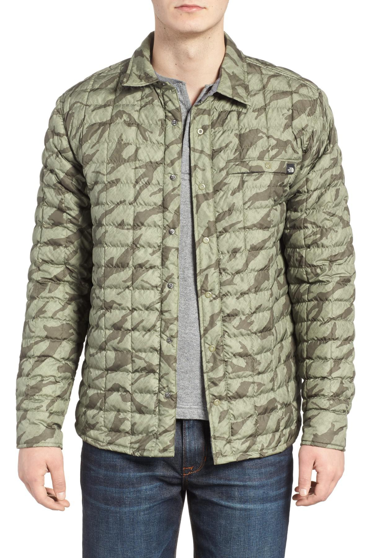024d443d7 The North Face Reyes Thermoball Shirt Jacket in Green for Men - Lyst