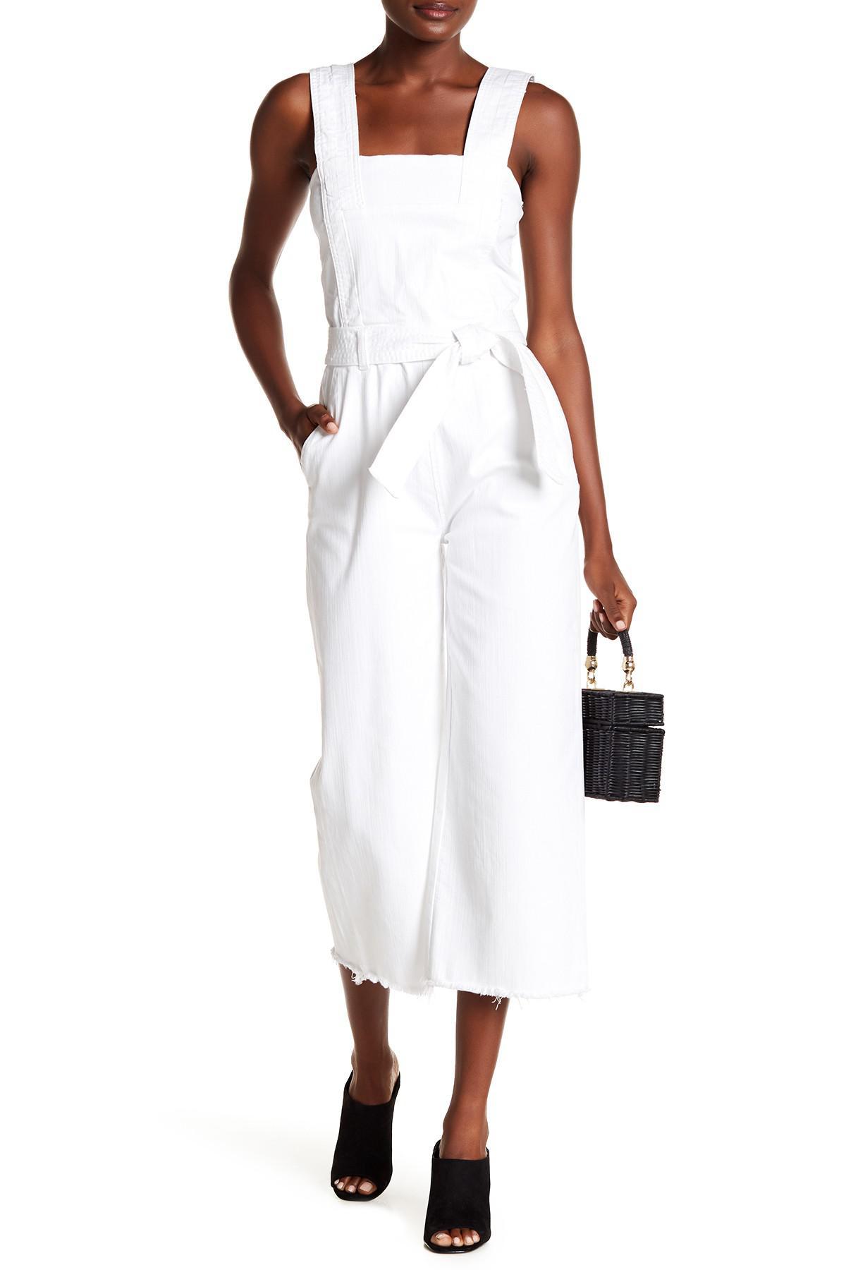 73b92410b9ed Lyst - RACHEL Rachel Roy Wide Legged Crop Jumpsuit in White