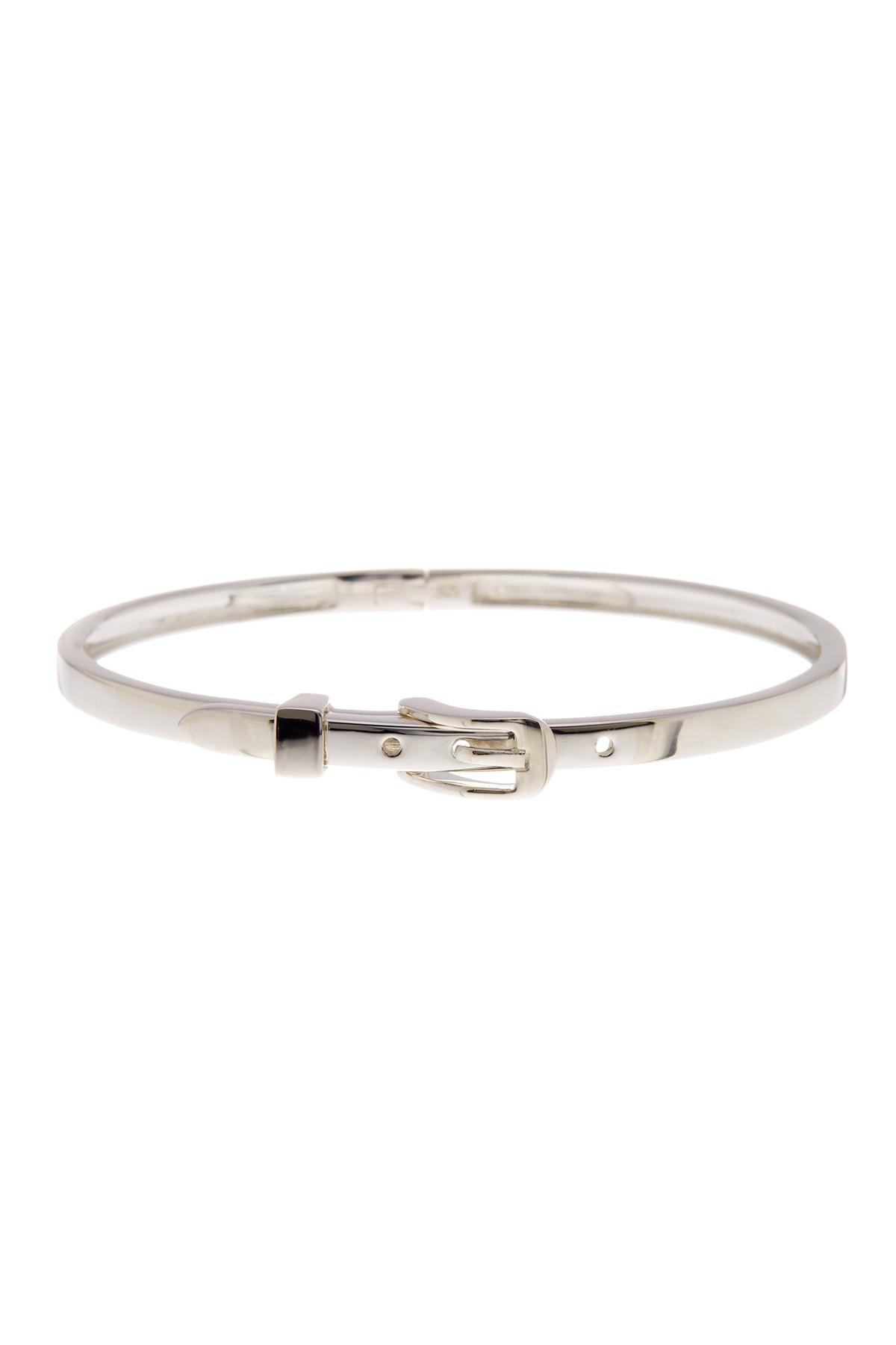 Shinola Thin Sterling Silver Buckle Bracelet