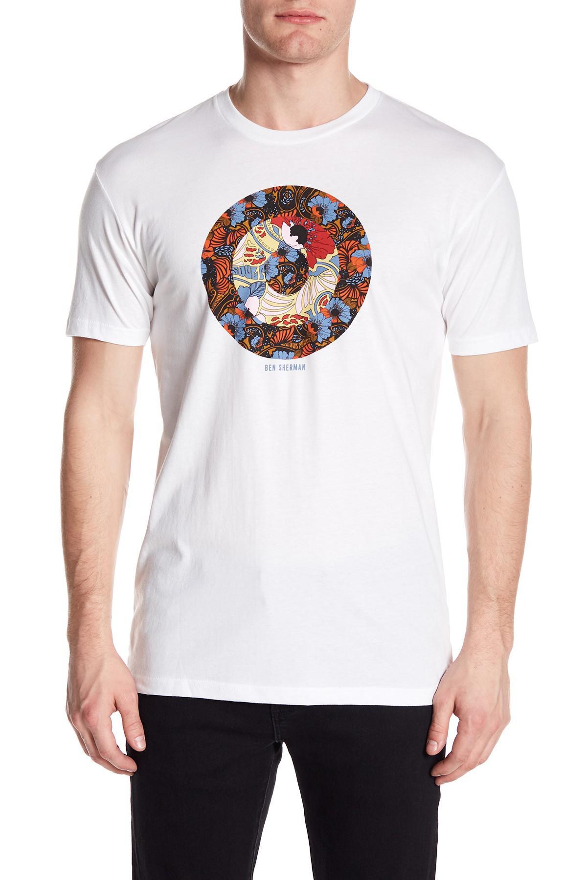 923bcccb8 Ben Sherman Hero Target T-shirt in White for Men - Lyst