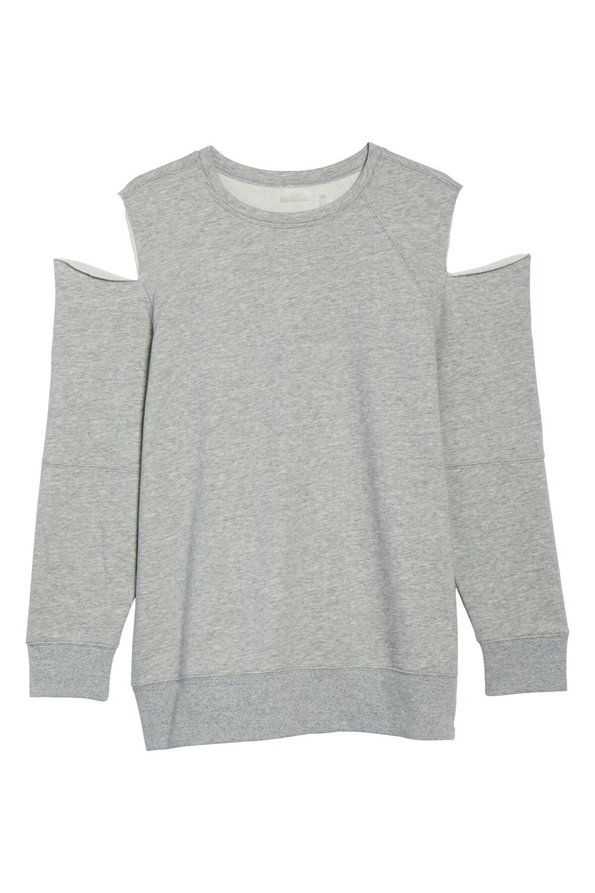 16ac21bc78a Lyst - Zella Tear It Up Cold-shoulder Tunic (plus Size) in Gray