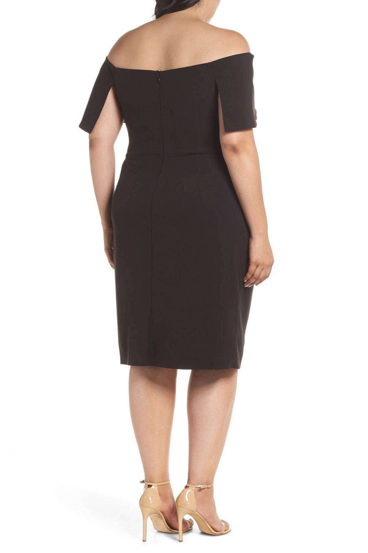 ec3d9bd0a5fe Lyst - Vince Camuto Off The Shoulder Dress (plus Size) in Black