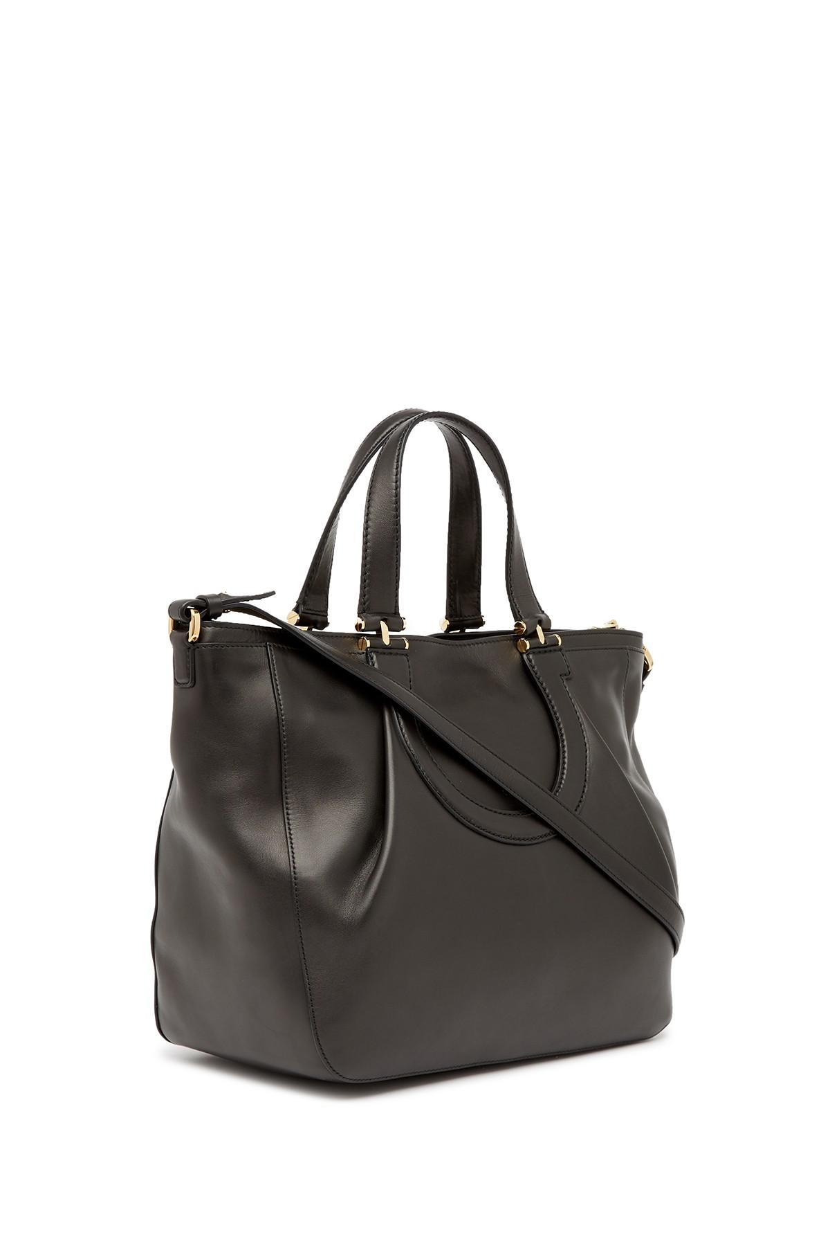 Ferragamo - Black Leather Tote Bag - Lyst. View Fullscreen 35851c5b705ad