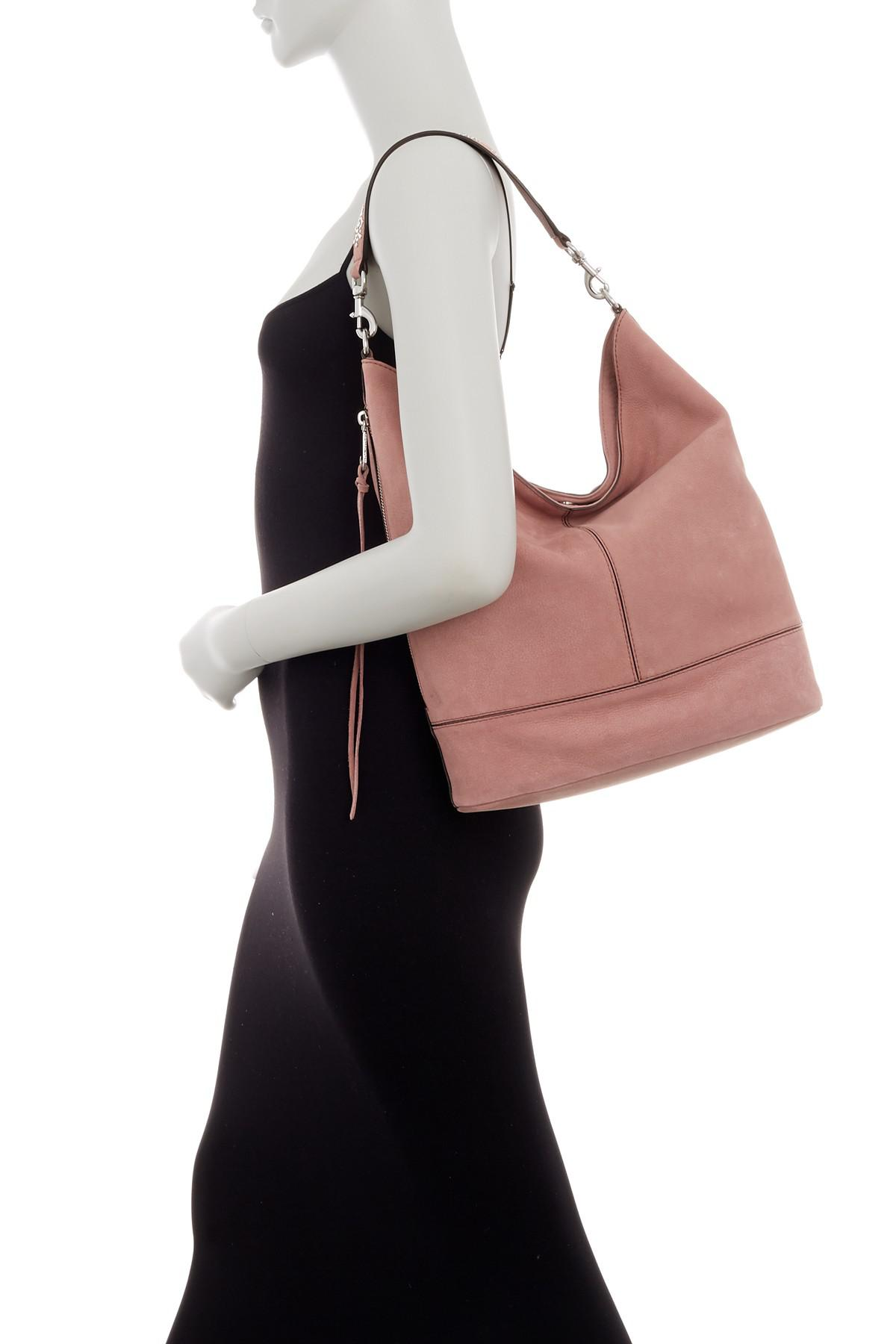 6c151da4e96 Lyst - Rebecca Minkoff Nubuck Leather Bucket Hobo