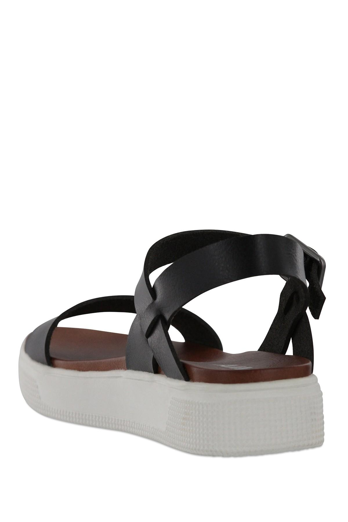 a24eef0c06f Lyst - MIA Abby Open Toe Platform Sandal in Black