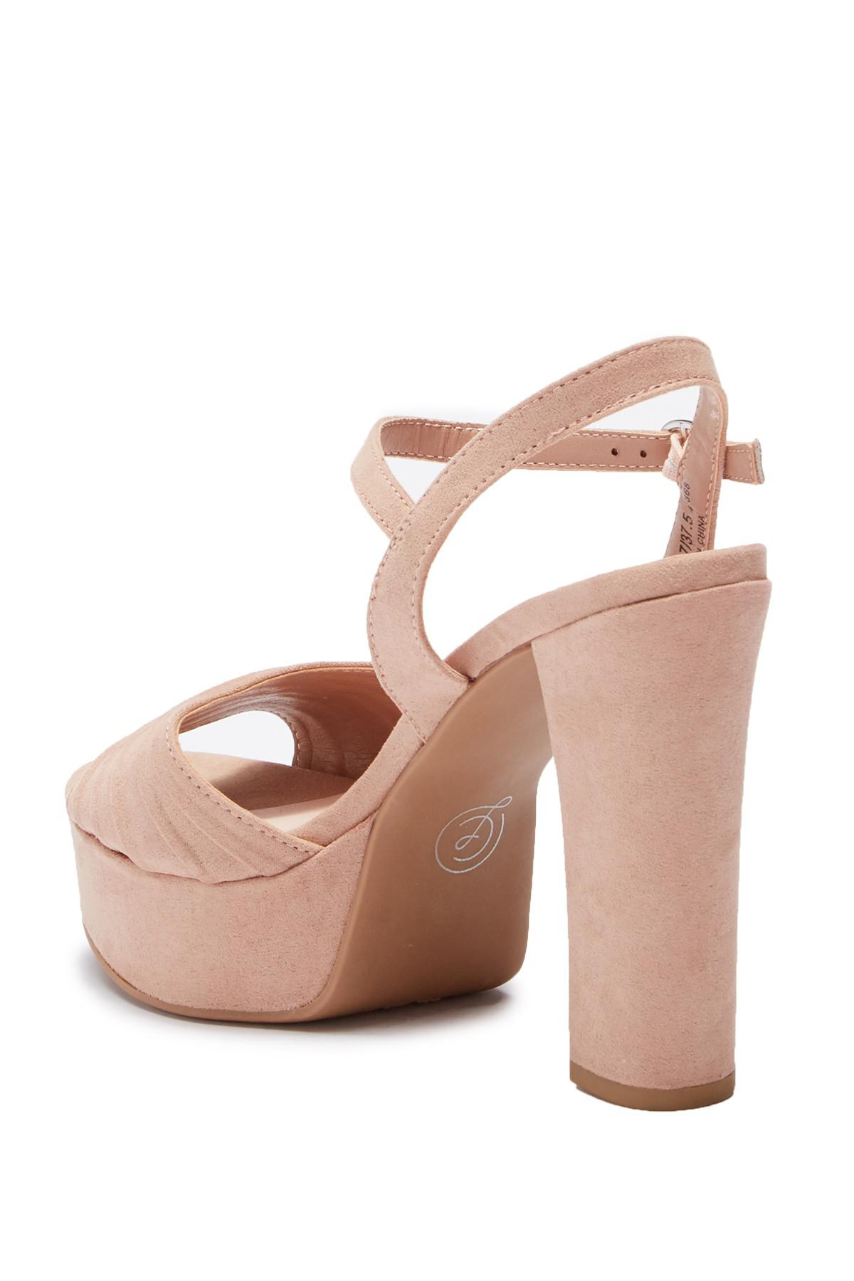 0f7679ab510f Chinese Laundry - Multicolor Allie Pleated Platform Sandal - Lyst. View  fullscreen