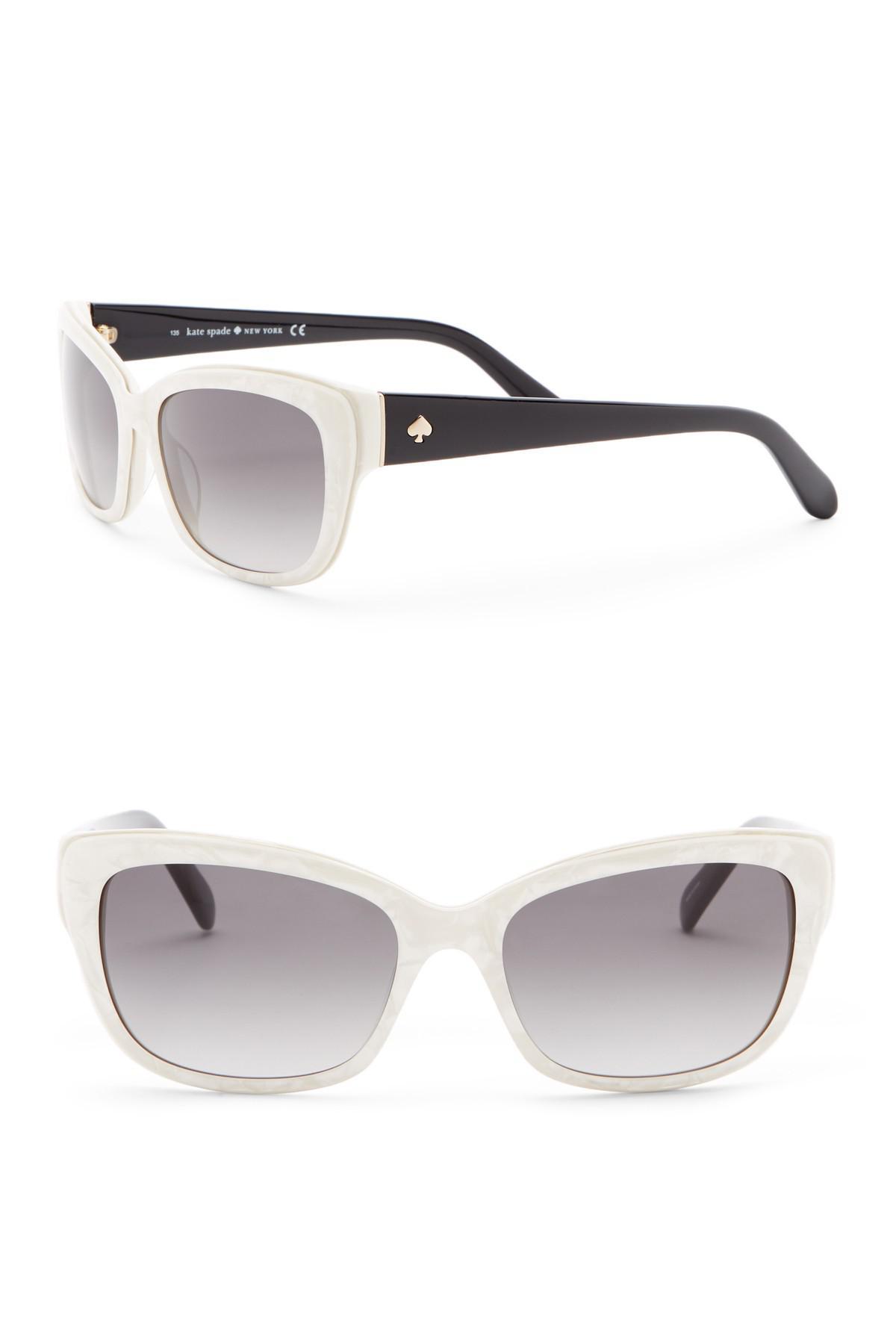 4b458ca2fac1 Lyst - Kate Spade Johanna 53mm Squared Cat Eye Sunglasses