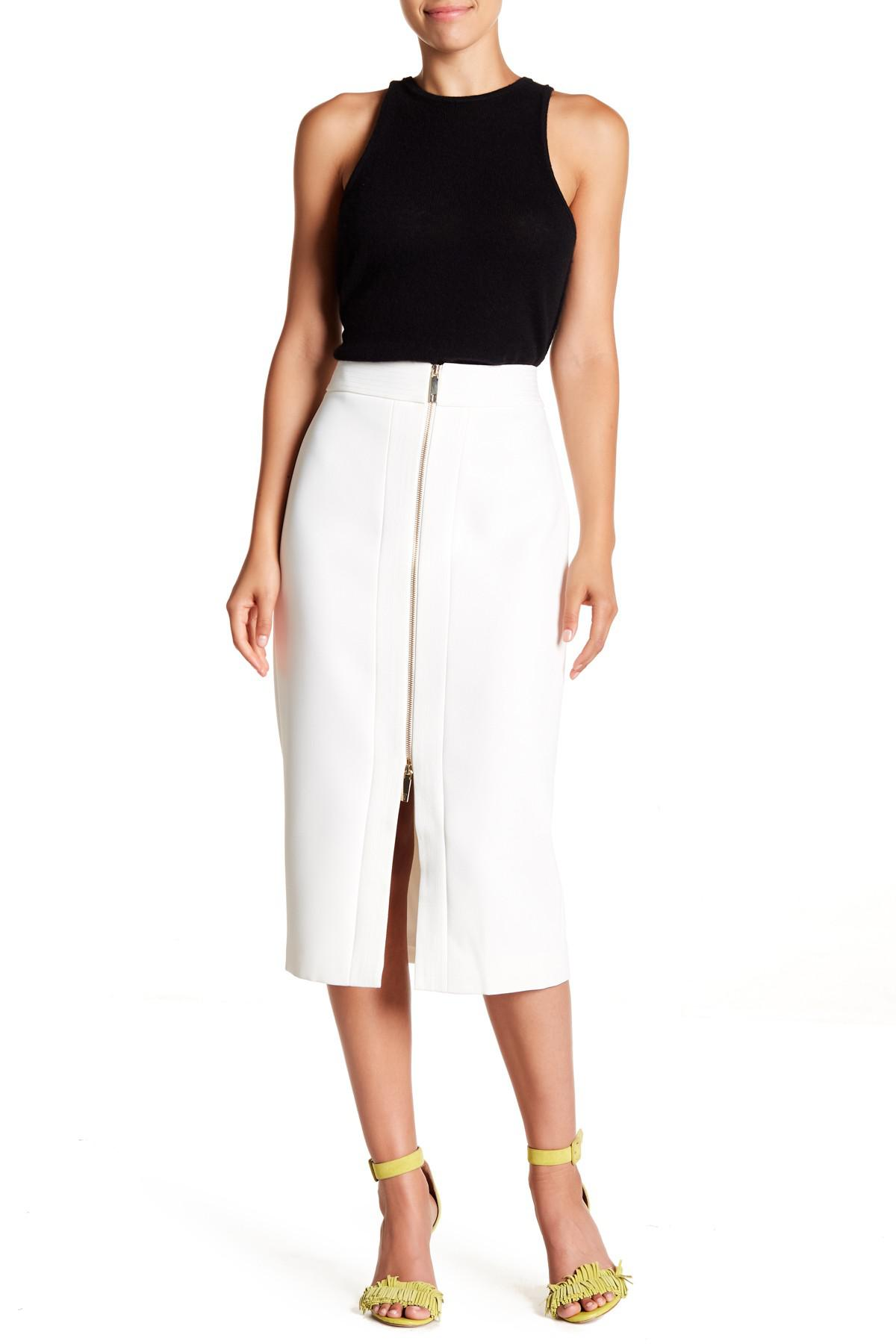 f7eca7a67 Lyst - Ted Baker Crepe Zip Pencil Skirt in Natural