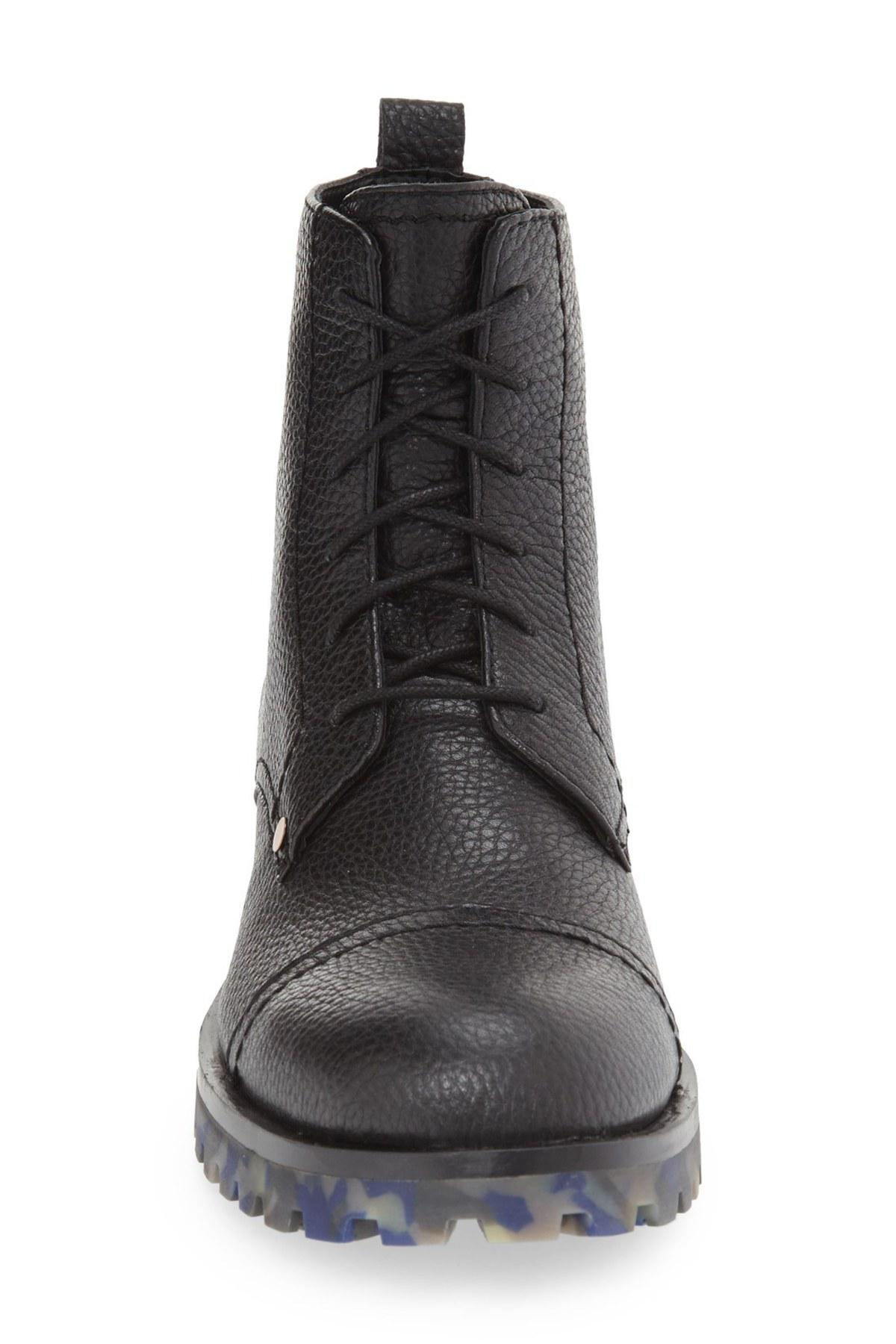 50c5b876141 Lyst - Calvin Klein  nex  Cap Toe Boot (men) in Black for Men