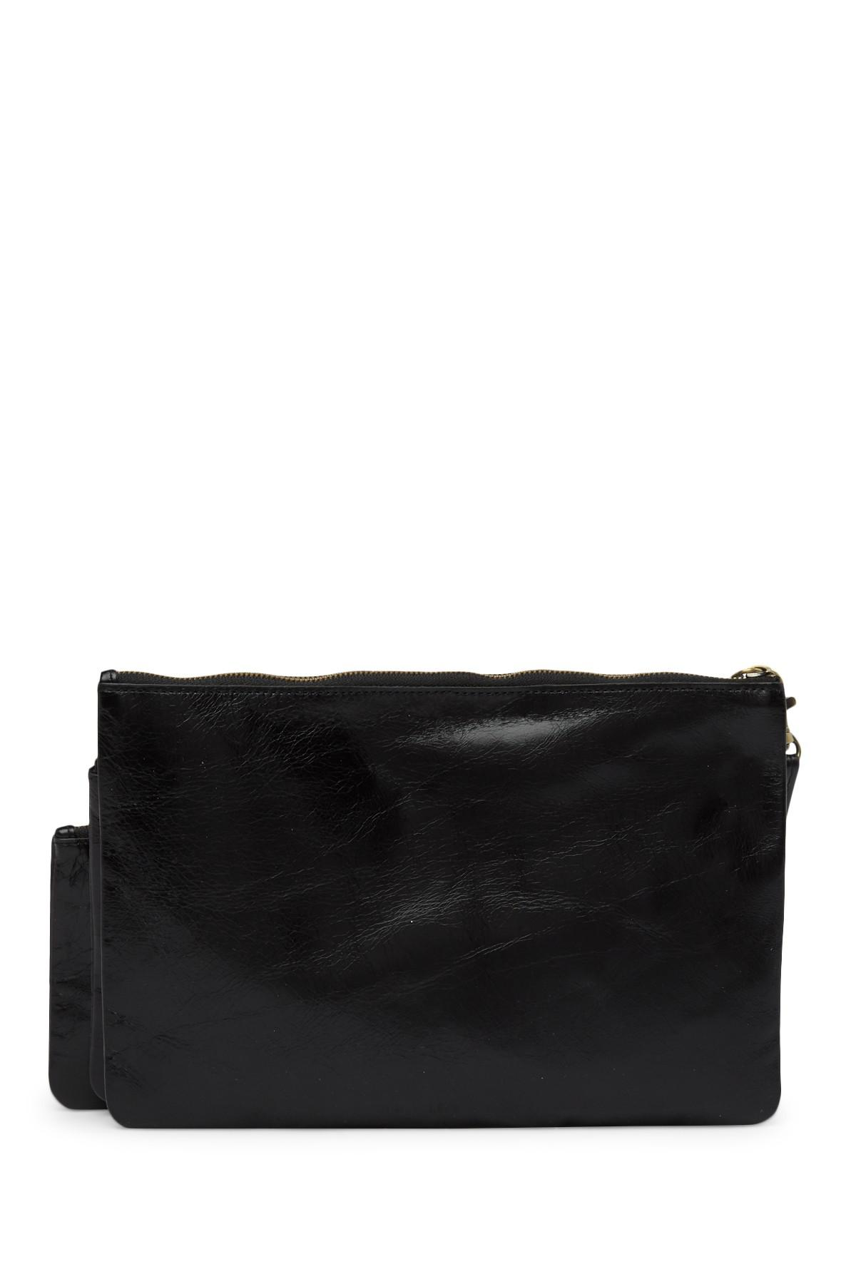 c391559815d5 Lyst - Hobo Triad Leather Pouch Set in Black