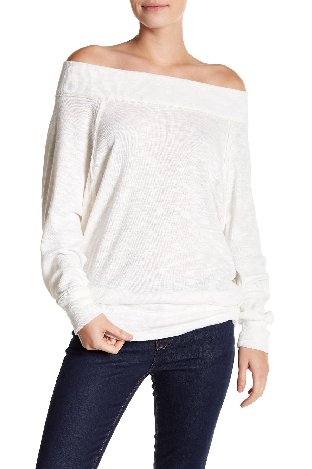 46f04498a7cfab Lyst - Free People Palisades Off The Shoulder Top in White