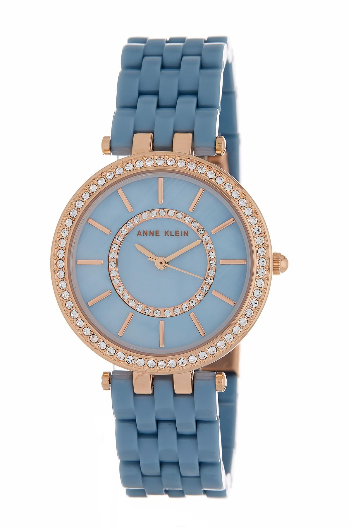 women and s klein silver dp amazon bracelet swarovski com watch tone bangle accented watches ak set crystal anne
