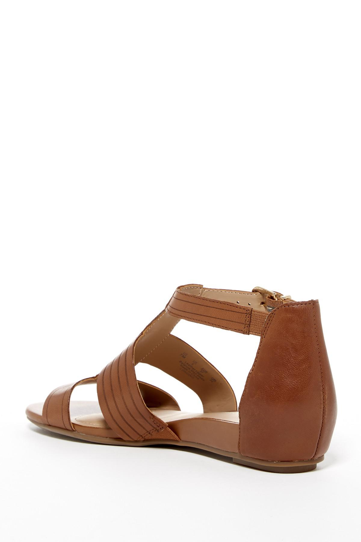 58a4fa4d0dc5 Lyst - Naturalizer Longing Flat Sandal in Brown