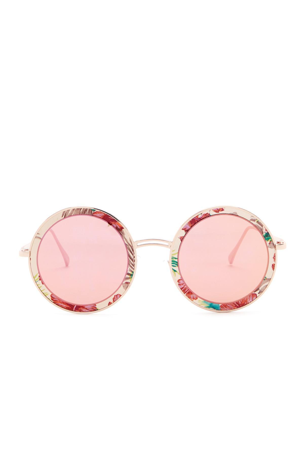 e246e47ec23 Steve Madden - Pink 58mm Classic Round Sunglasses - Lyst. View fullscreen