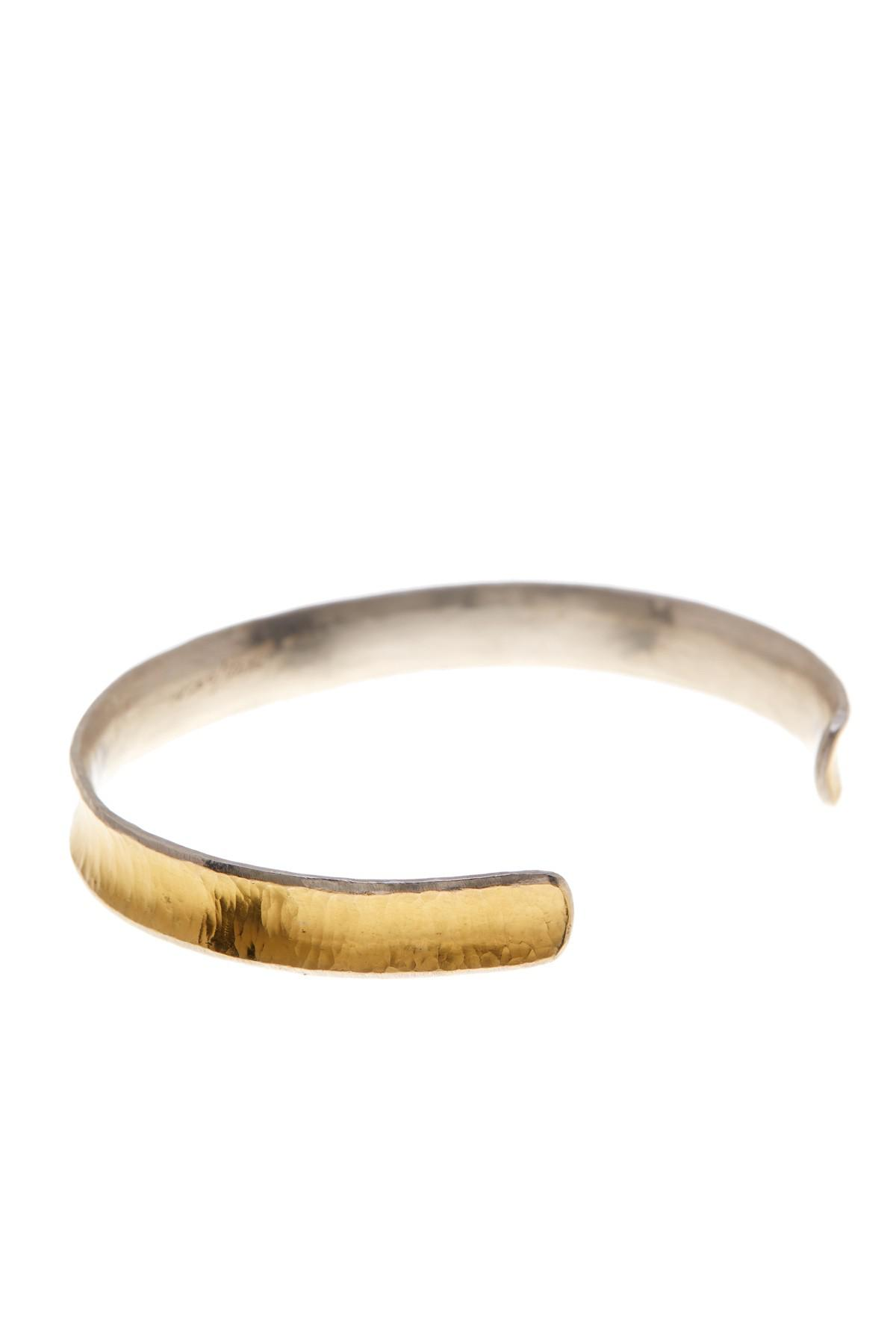 Gurhan Large Hourglass Hammered Cuff in 24K Gold YR4nRBok