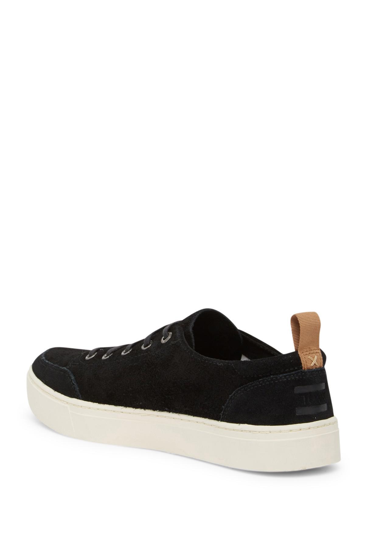2bbb5bf4fe6 Lyst - TOMS Landen Shaggy Suede Sneaker in Black for Men