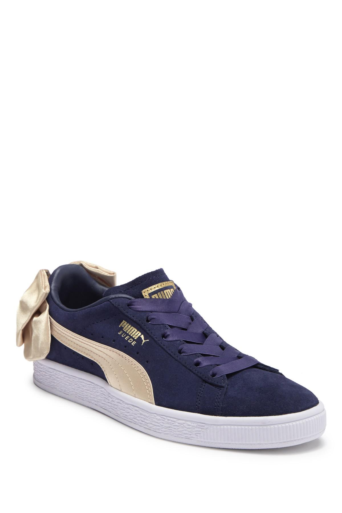 84a735154280 Lyst - PUMA Suede Bow Varsity Sneaker in Blue - Save 32%