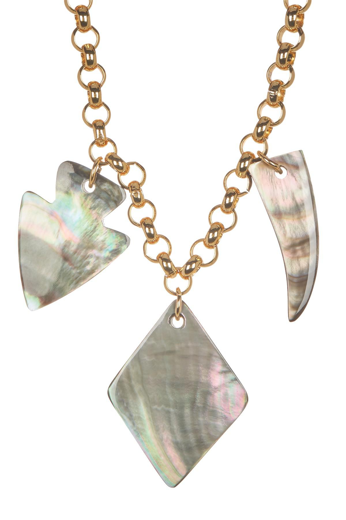Nest Mother-of-Pearl Chain Charm Necklace y5mEDnmWU
