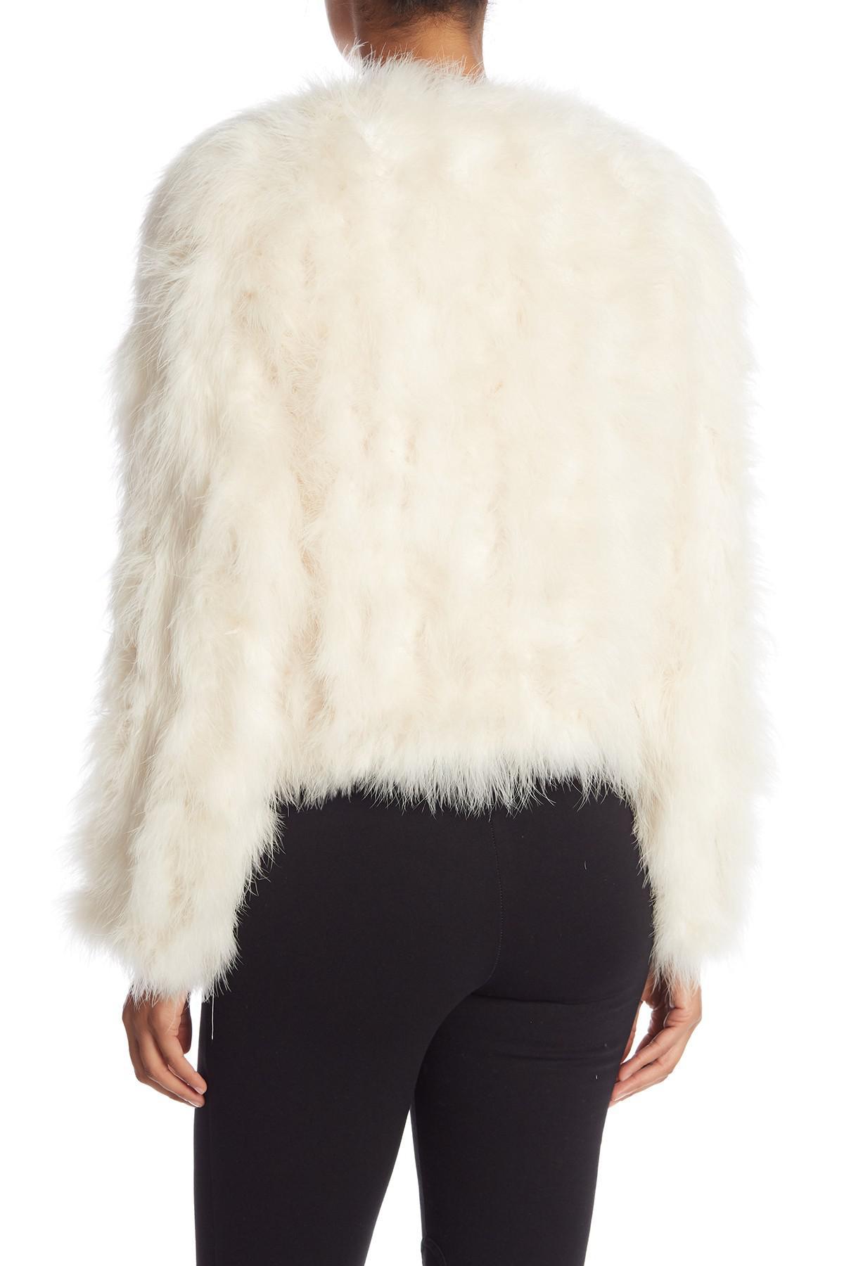d75e56954b5 Lamarque Genuine Turkey Feather Jacket in White - Lyst