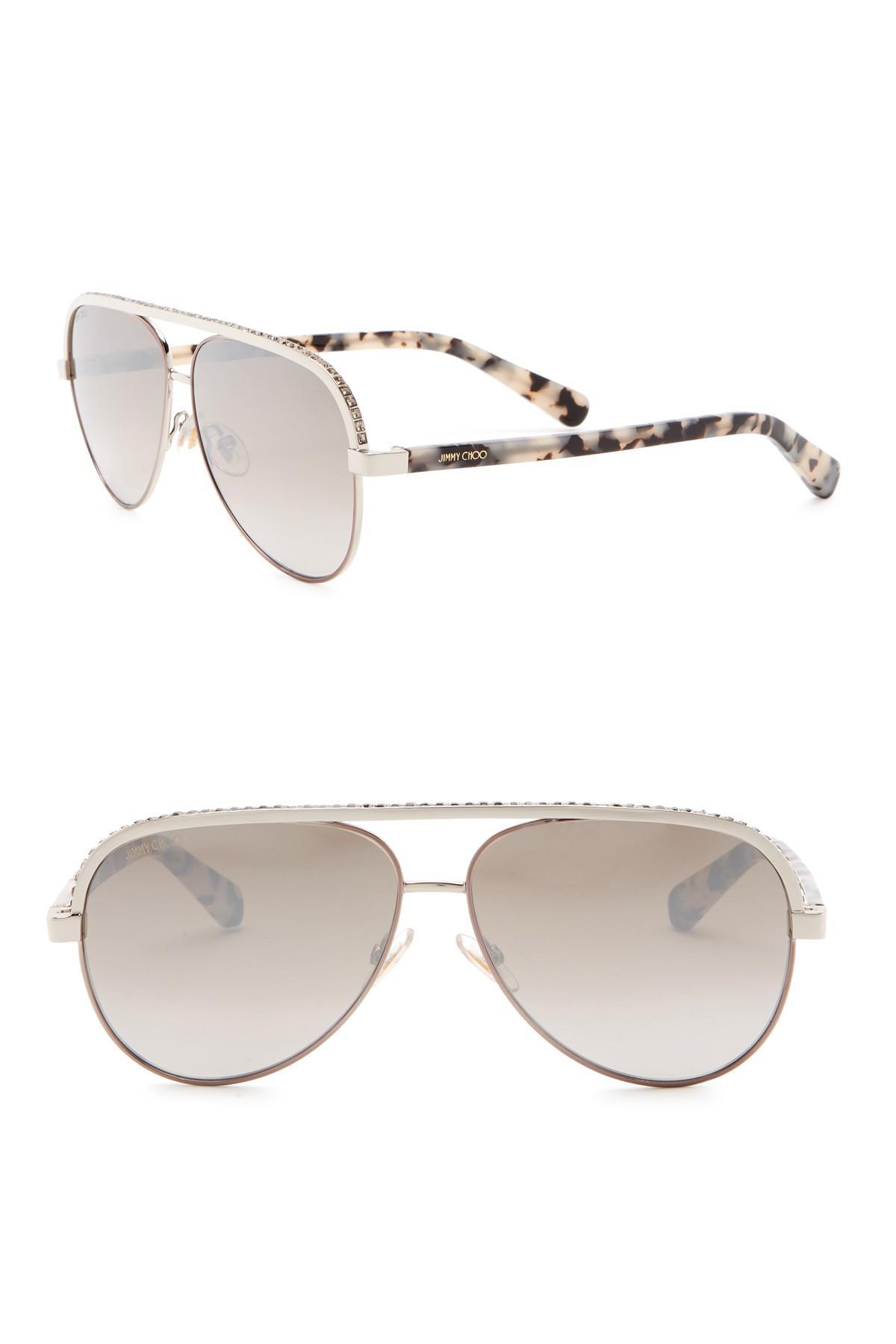 c73e6d22543c3 Lyst - Jimmy Choo Linas 59mm Aviator Sunglasses