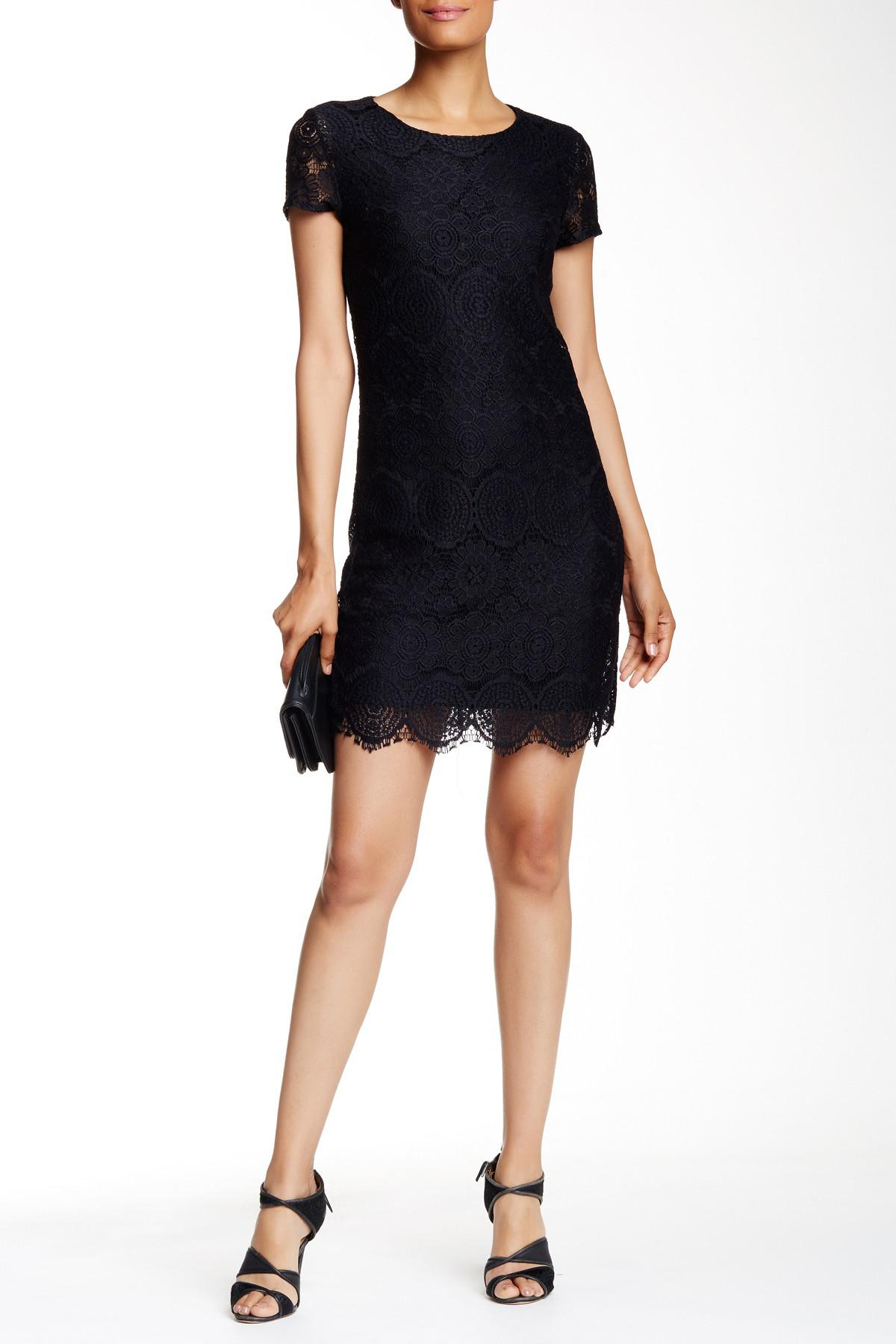 d59cbee6cb7 Black Short Sleeve Shift Dress - Data Dynamic AG