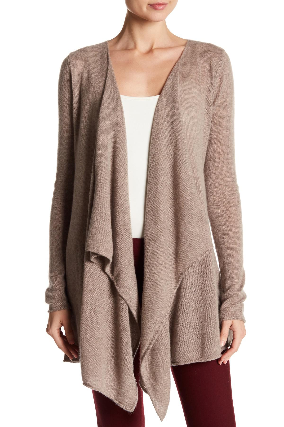 Philosophy cashmere Cashmere Waterfall Front Cardigan | Lyst