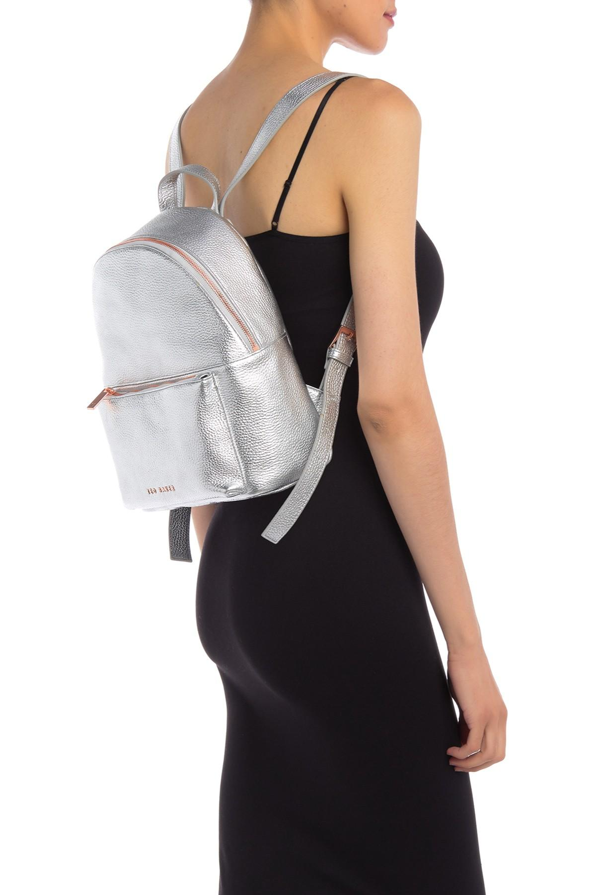 a27a9630b Ted Baker Pearen Leather Backpack in Metallic - Lyst
