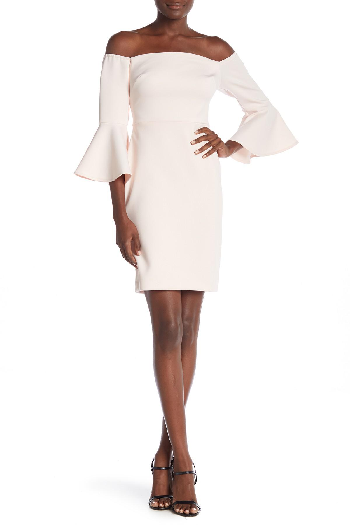 a9920654e514 Betsey Johnson - Multicolor Off-the-shoulder Bell Sleeve Dress - Lyst. View  fullscreen