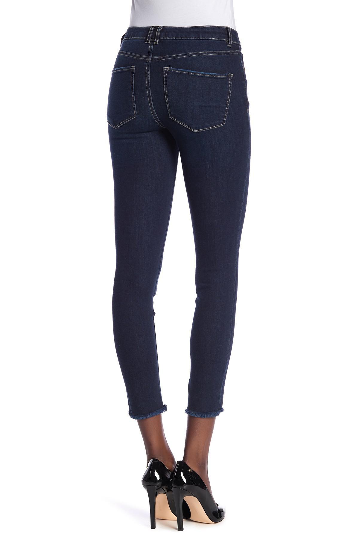cec787acfda Jolt - Blue Fray Hem Skinny Jeans (juniors) - Lyst. View fullscreen