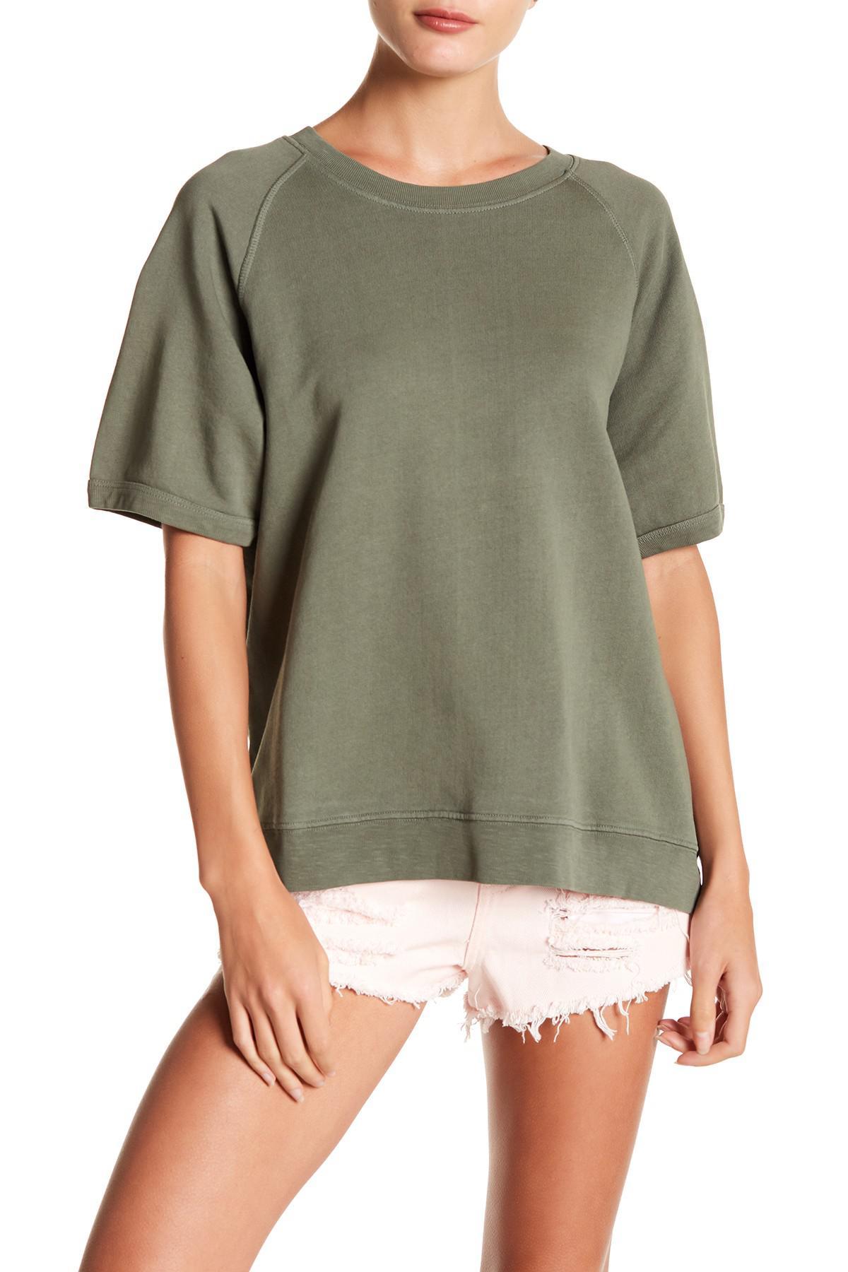 9f89ed79d55d8 Lyst - Sincerely Jules Cara Dolman Sleeve Sweatshirt in Green