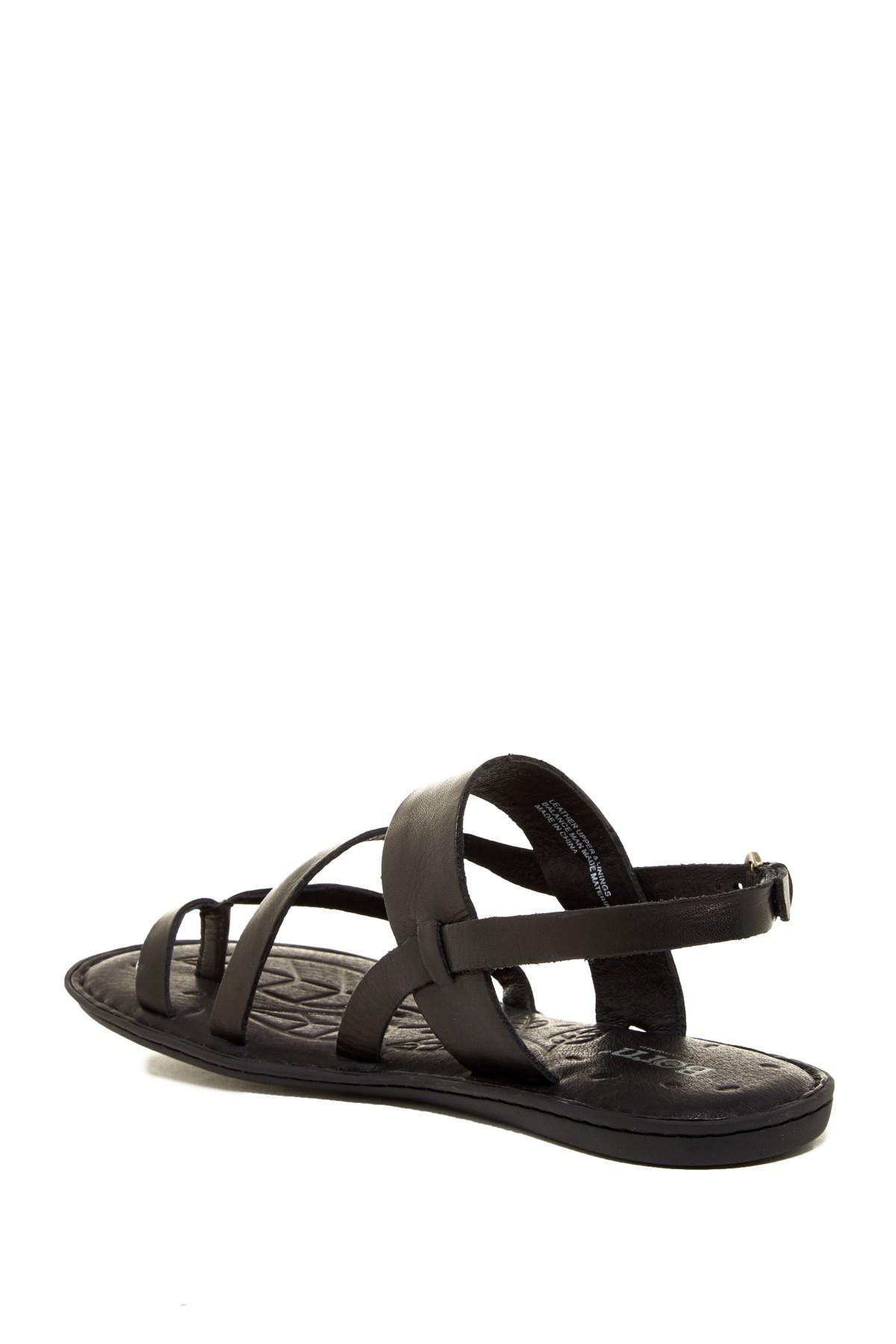 bed3d56dccf7 Born - Black Favignana Leather Sandal - Lyst. View fullscreen