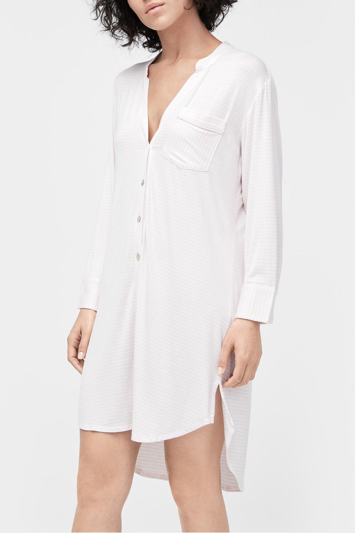1785bce619 Lyst - UGG Vivian Stripe Knit 2-piece Pajama Shirt in White