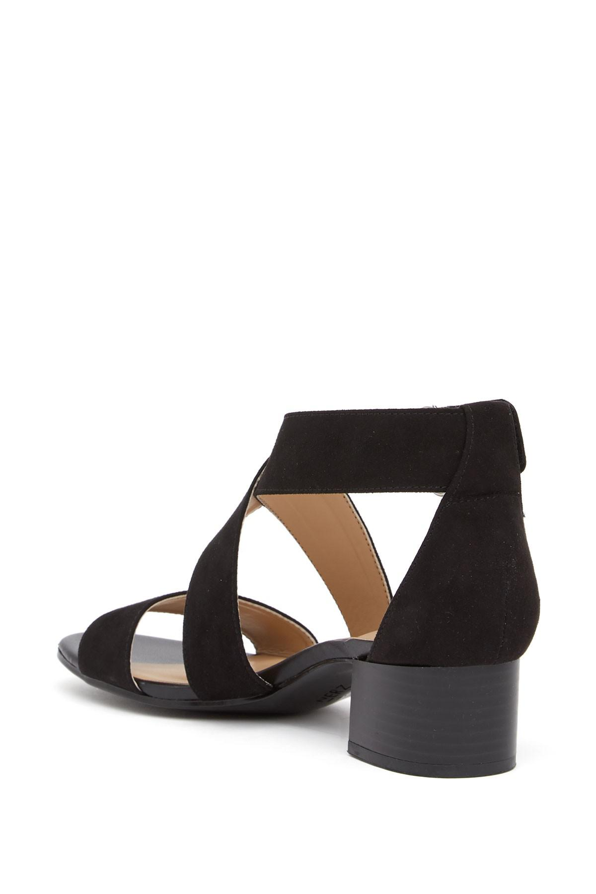 9c10c6a8e33 Naturalizer - Black Adele Block Heel Sandal - Wide Width Available - Lyst.  View fullscreen