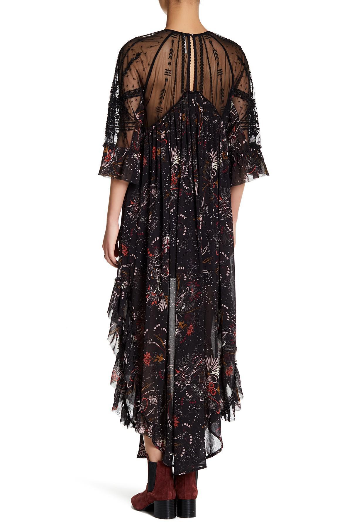 41b97dd175a59 Free People Spirit Of The Wild Maxi Dress in Black - Lyst