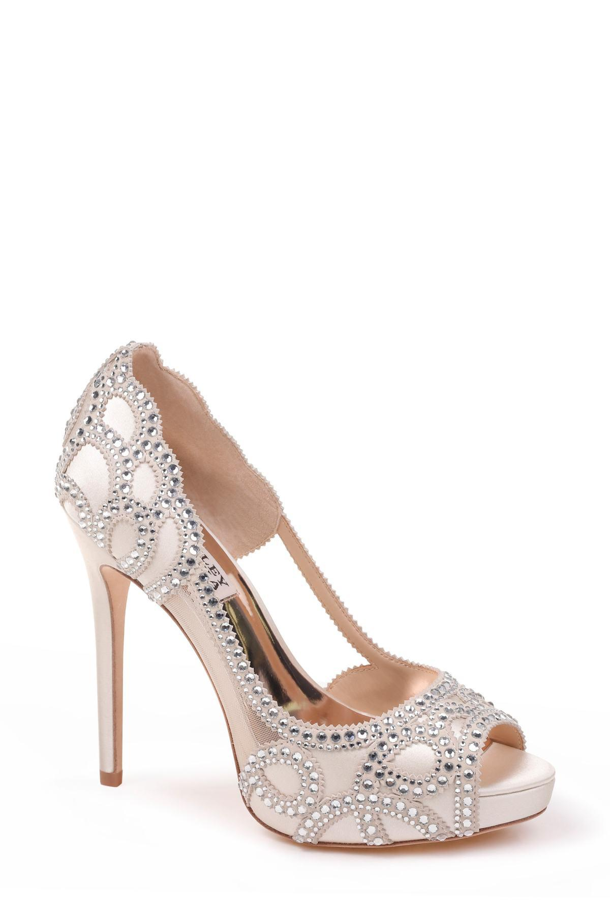 6c0e420c67f Badgley Mischka. Women s Witney Embellished Peep Toe Pump