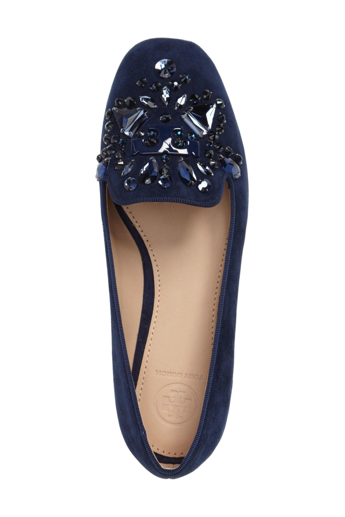 f4e326bbf5a Lyst - Tory Burch  delphine  Embellished Loafer (women) in Blue