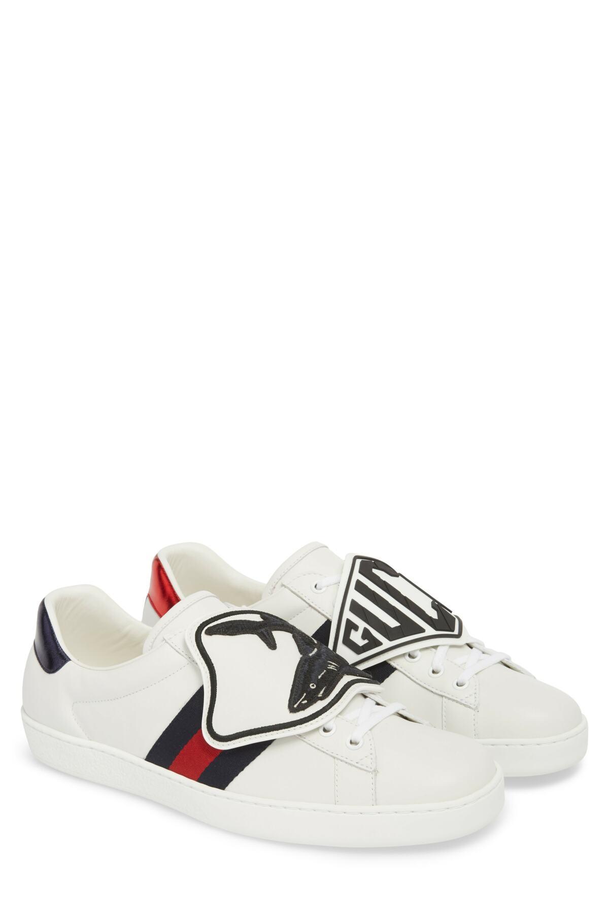 fdfb227e90d Gucci - Multicolor New Ace Patch Sneaker for Men - Lyst. View fullscreen