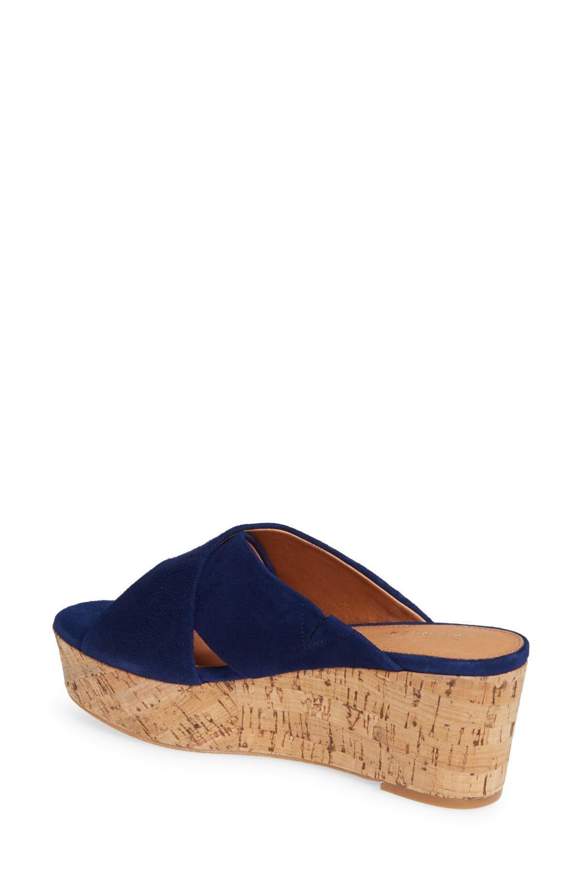 8fdb67221bf Halogen - Blue (r) Elena Platform Wedge Sandal (women) - Lyst. View  fullscreen