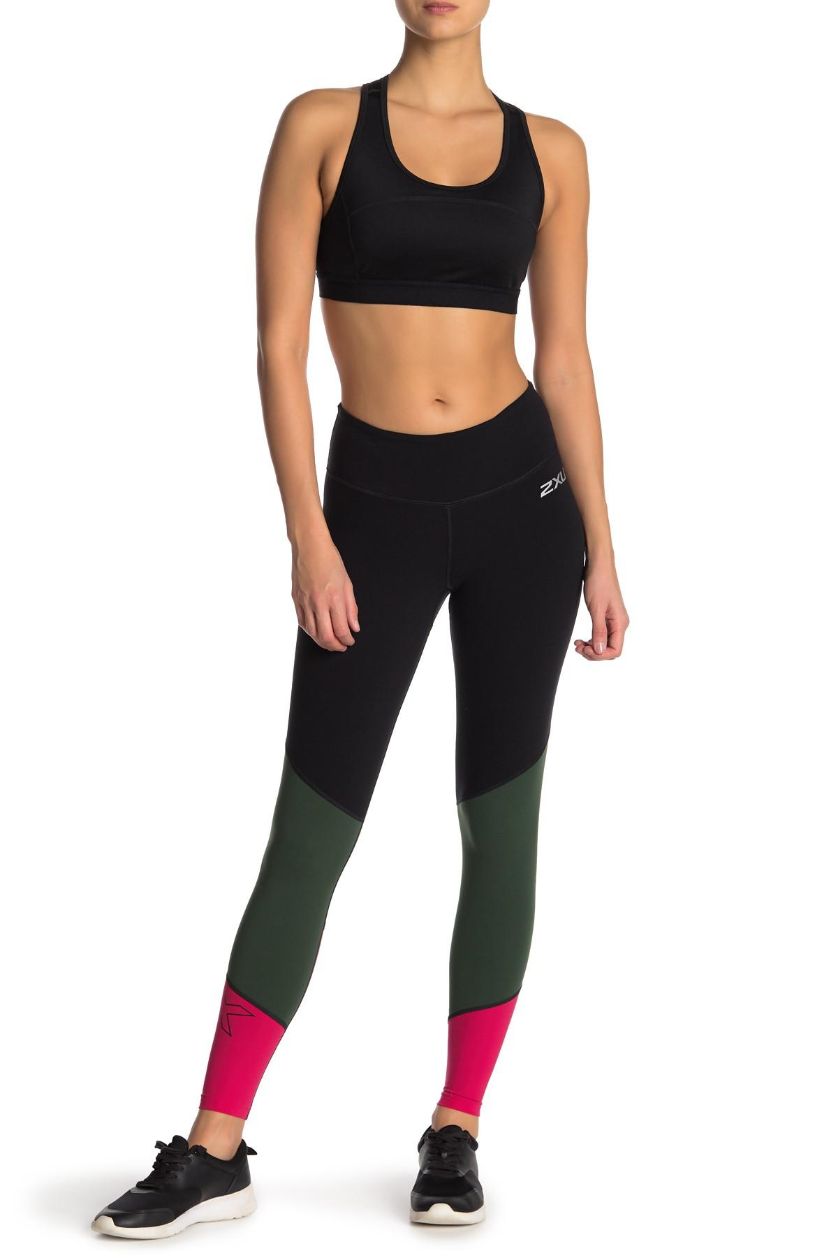 a5d45bedf1 Lyst - 2XU Mid Rise Colorblock Fitness Tights in Black