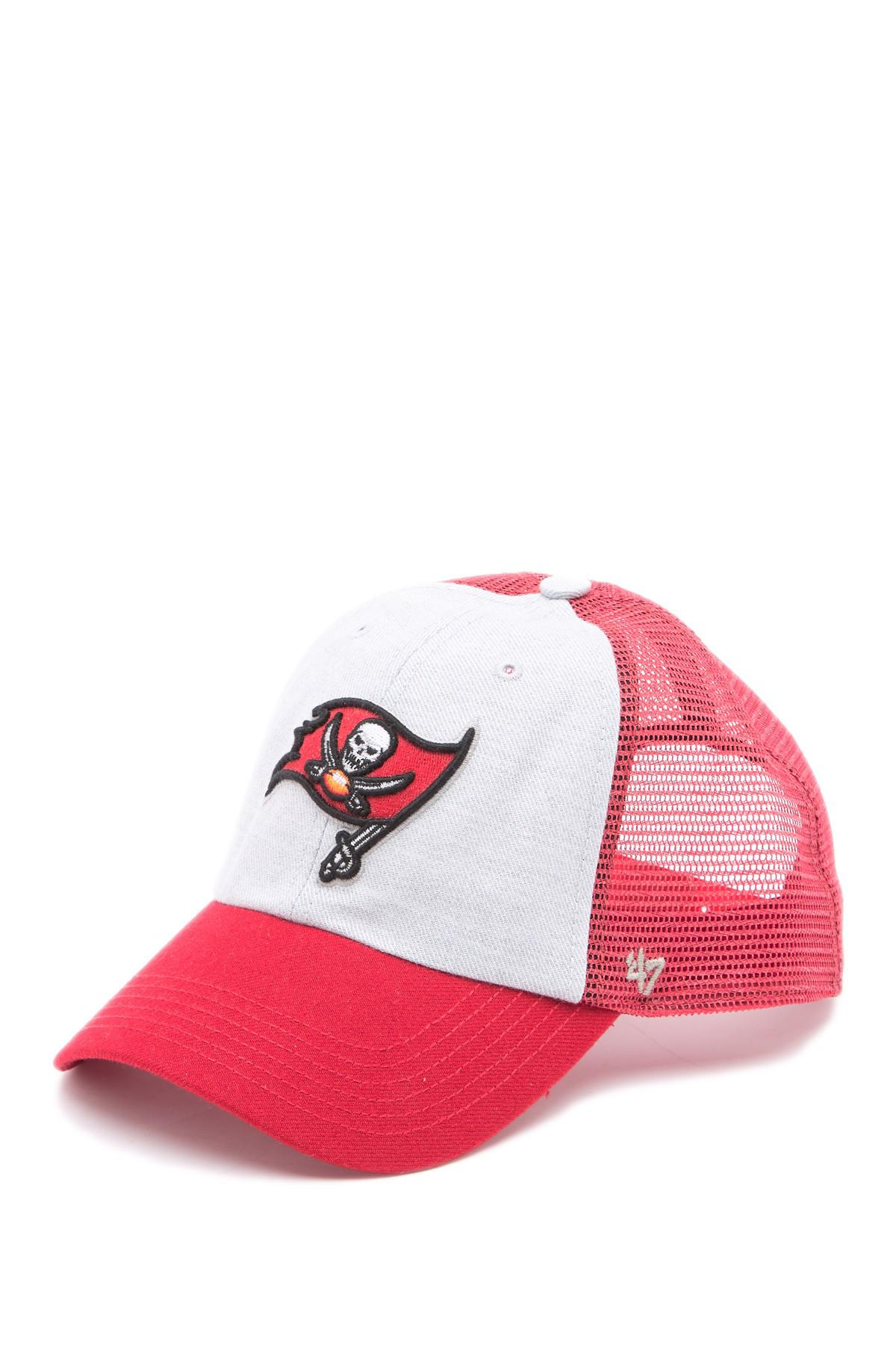 buy popular 7d644 a654d ... Red Nfl Belmont Buccaneers Baseball Cap for Men - Lyst. View fullscreen