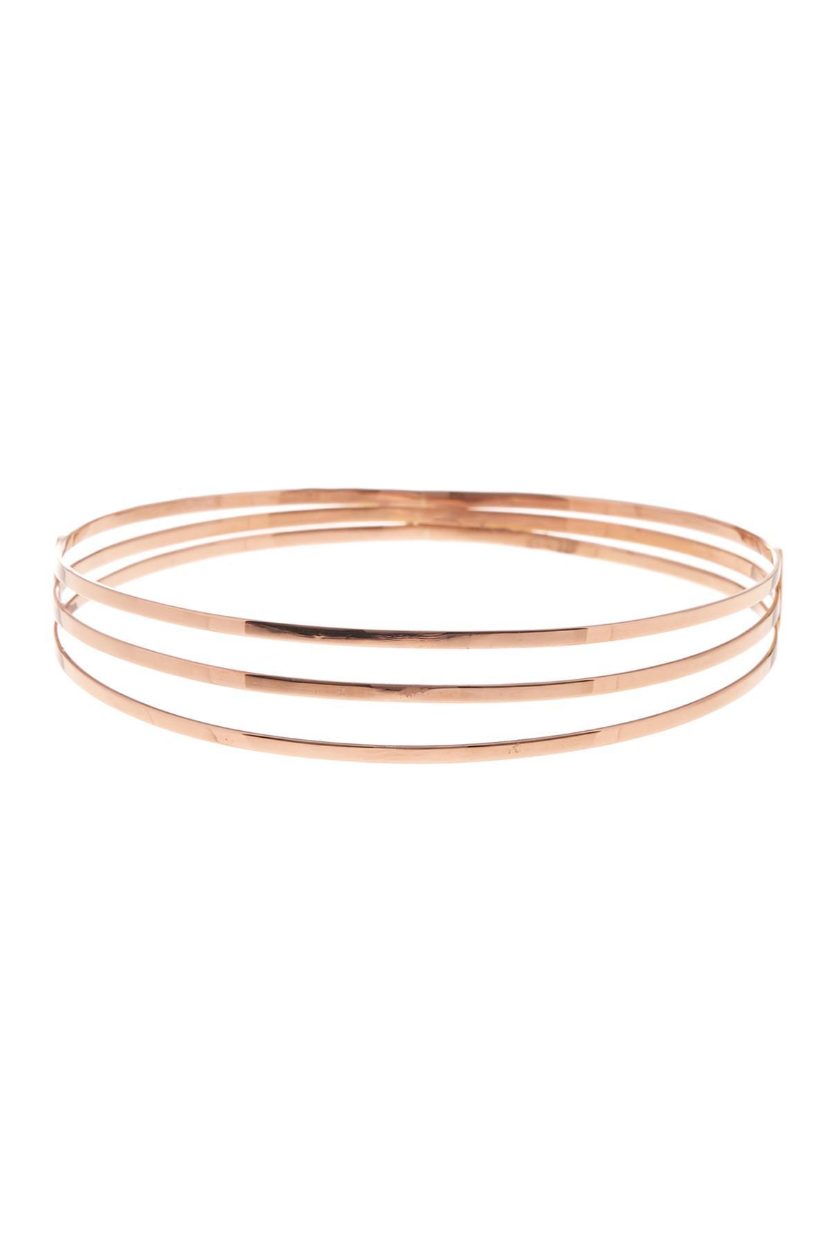 Lana Jewelry 14k Gold Alias Cross Curve Bubble Cuff Bangle xKEMYF6N