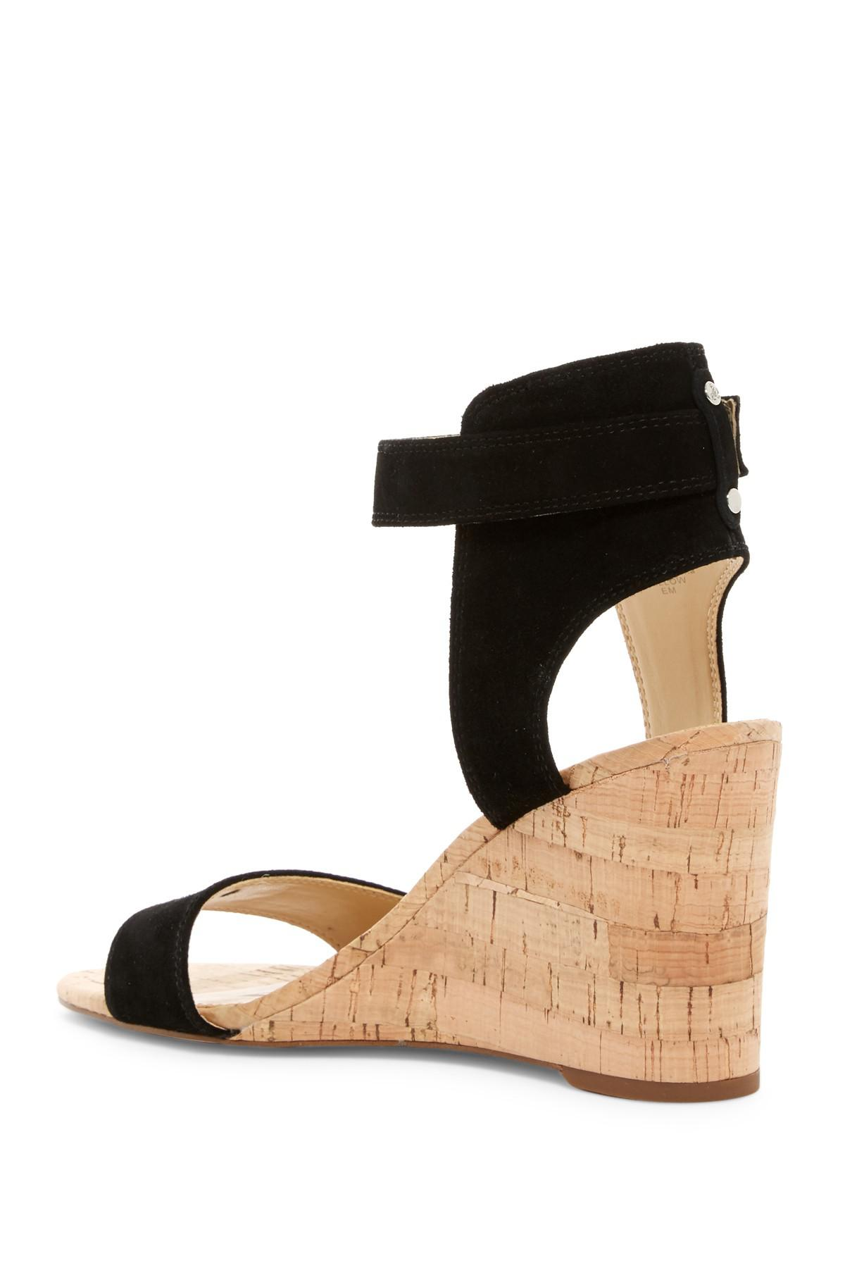 3b92549f18272b Lyst - Sam Edelman Willow Strappy Wedge Sandal in Black