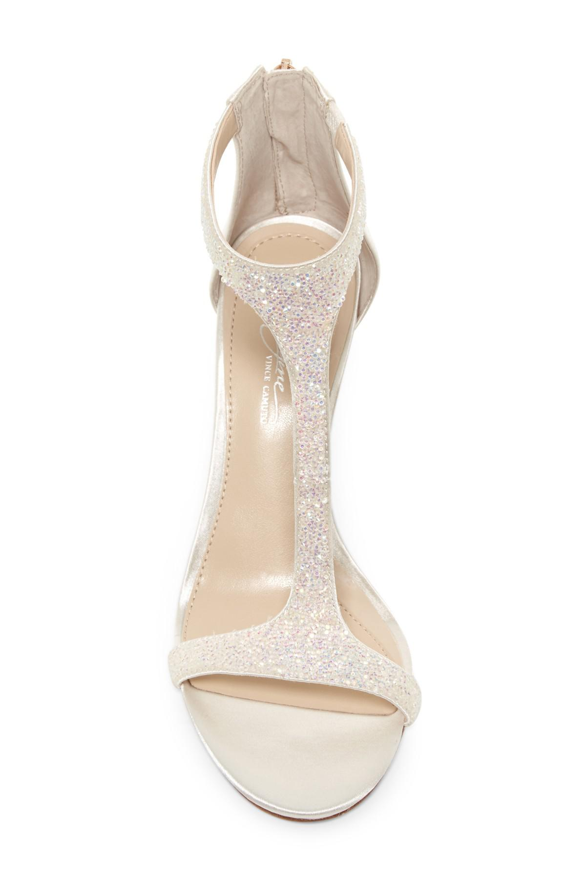 60e8211d73a1 Lyst - Imagine Vince Camuto Phoebe Embellished Leather T-strap ...
