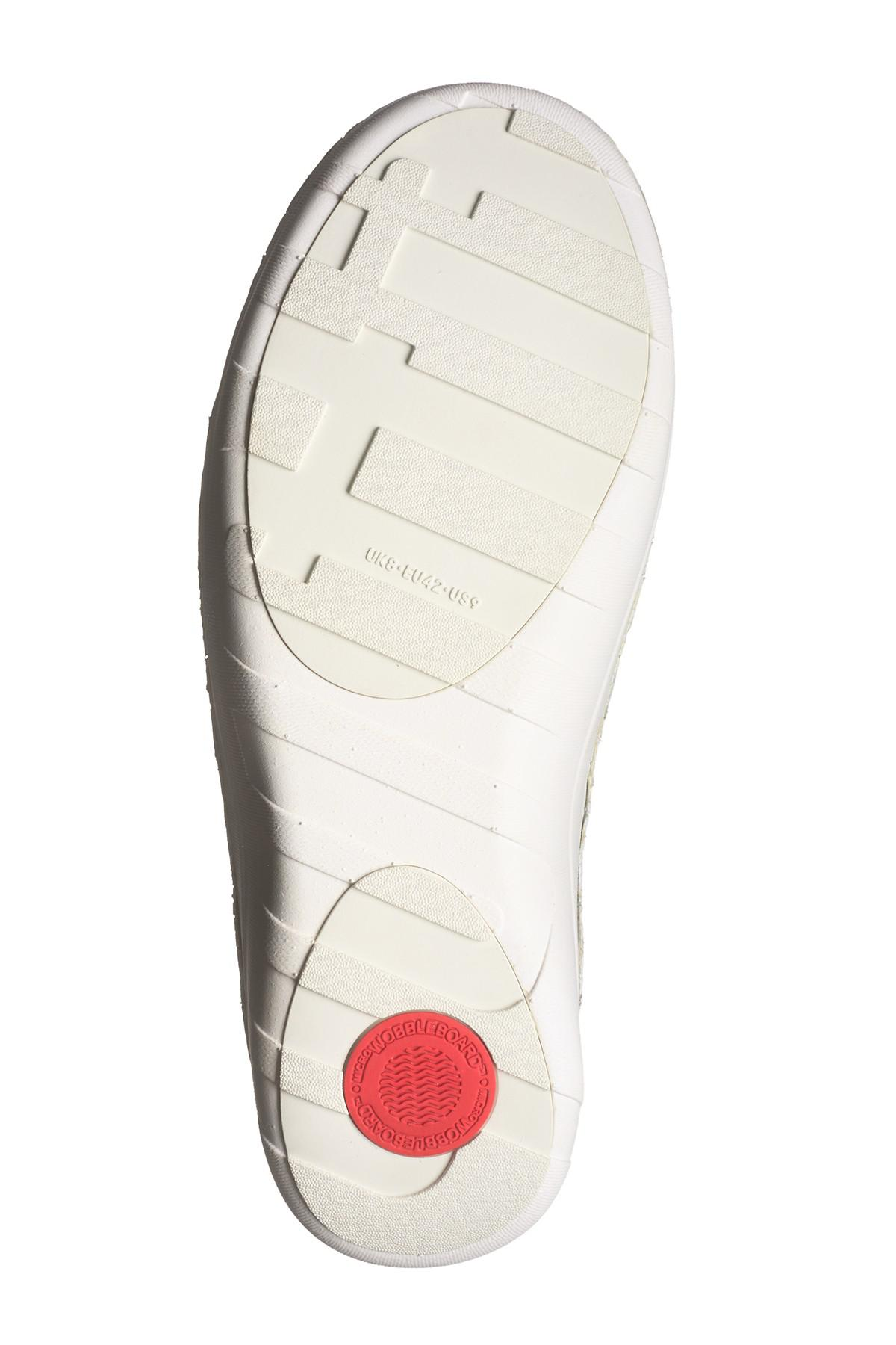 cd4cea46c23 Fitflop - White Perforated Leather Superloafer for Men - Lyst. View  fullscreen