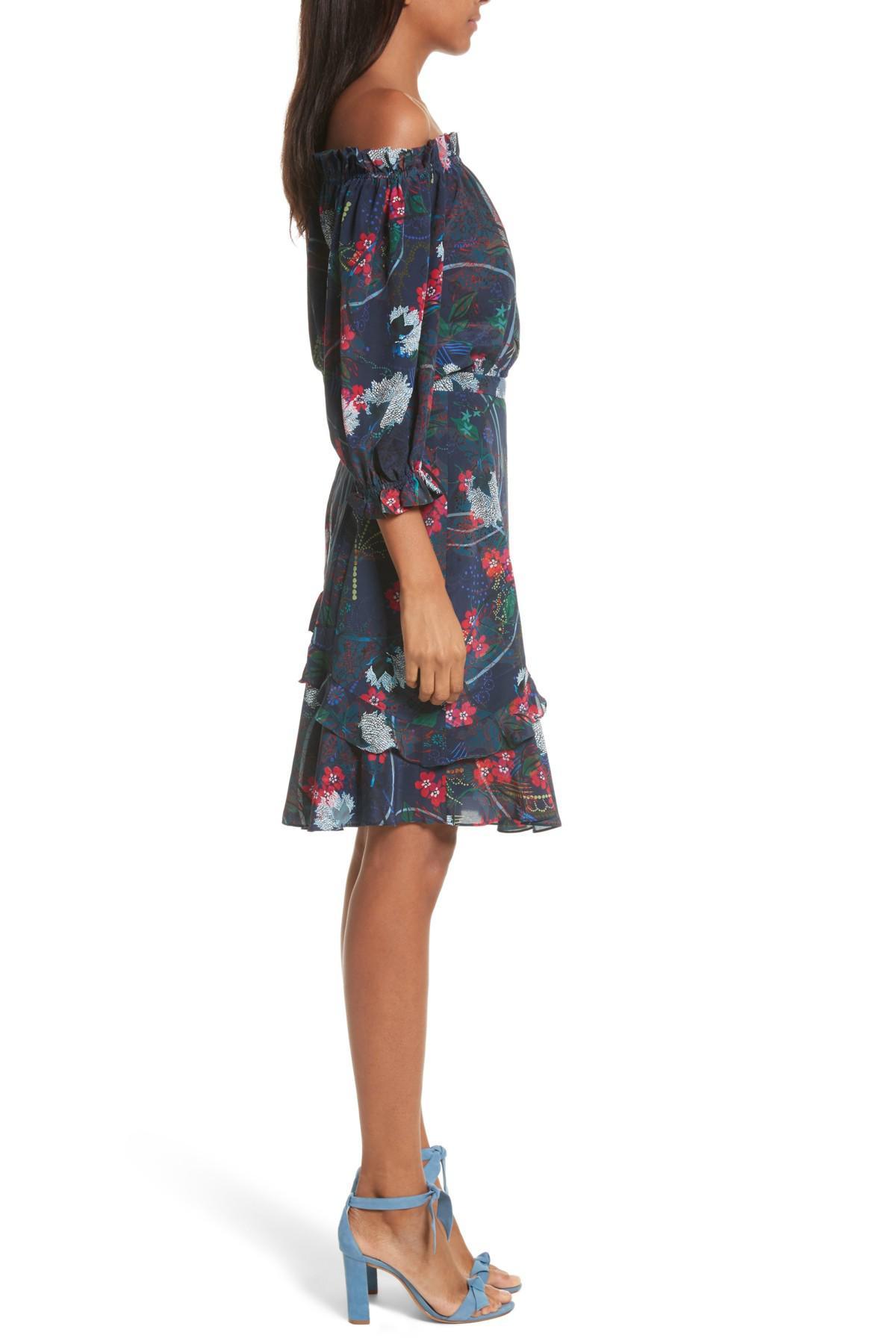 Grace Off Shoulder Ruffle DressSaloni Classique En Ligne Boutique En Ligne Vente De Faux 7egJTvQ0Z