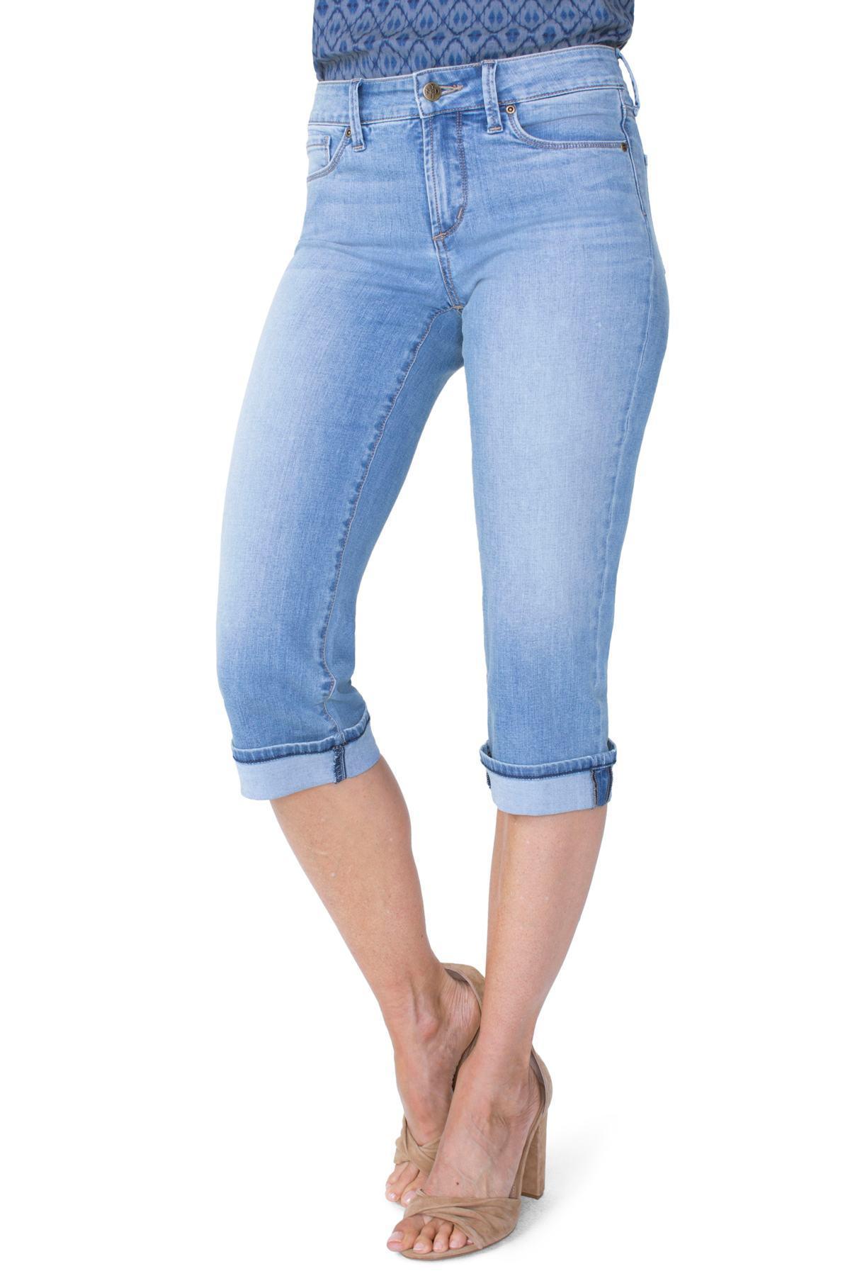 6af8d89109a Lyst - NYDJ Marilyn High Waist Cuffed Stretch Crop Jeans in Blue ...